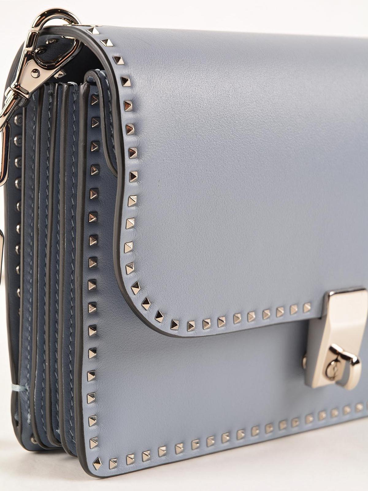 Valentino Garavani - Stud trimmed chain shoulder bag - shoulder bags ...