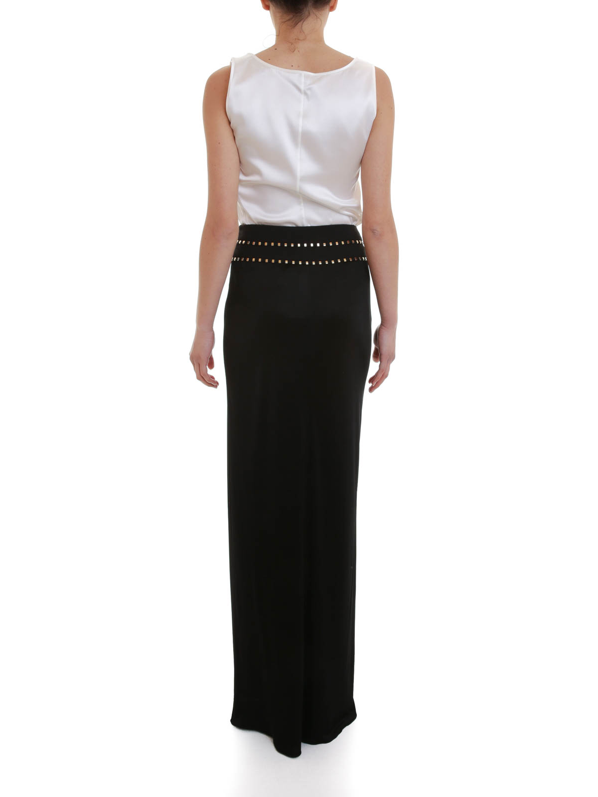 Shop Cheap Online Real Cheap Online Versace Collection studded draped long dress Online Shopping gv3SmL