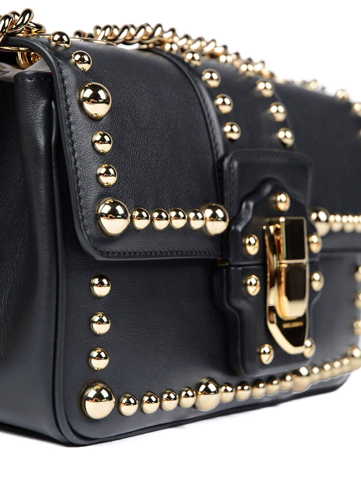 Dolce   Gabbana - Studded leather Lucia bag - cross body bags ... 984baf305c26a