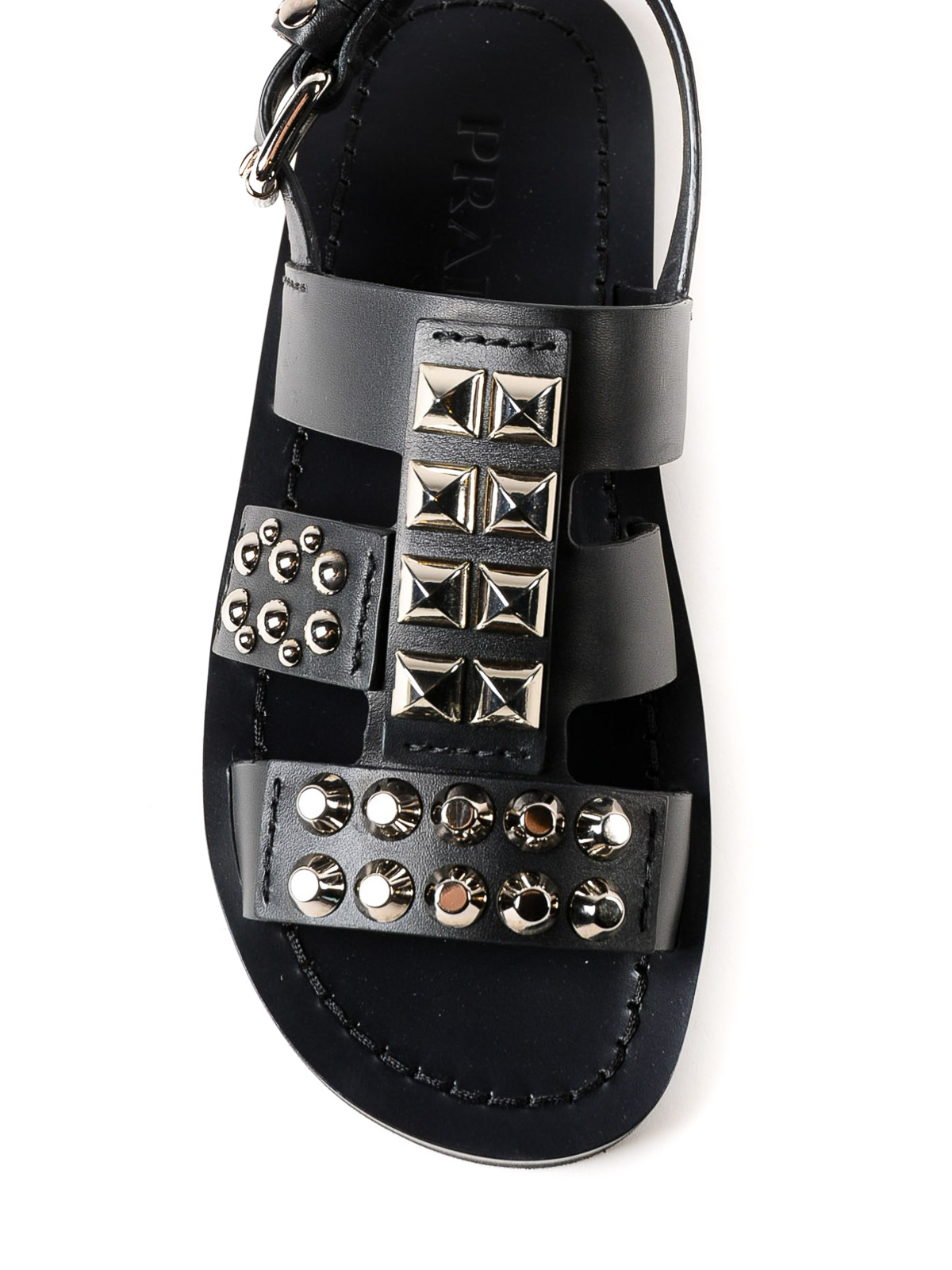 Prada - Studded leather sandals