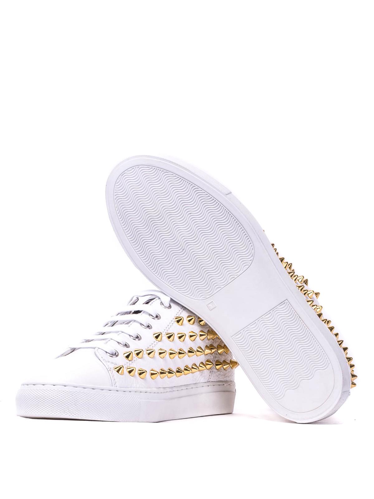 Gienchi - Sneaker basse in pelle e borchie - sneakers - GXD020P331CER0B 497435d577c