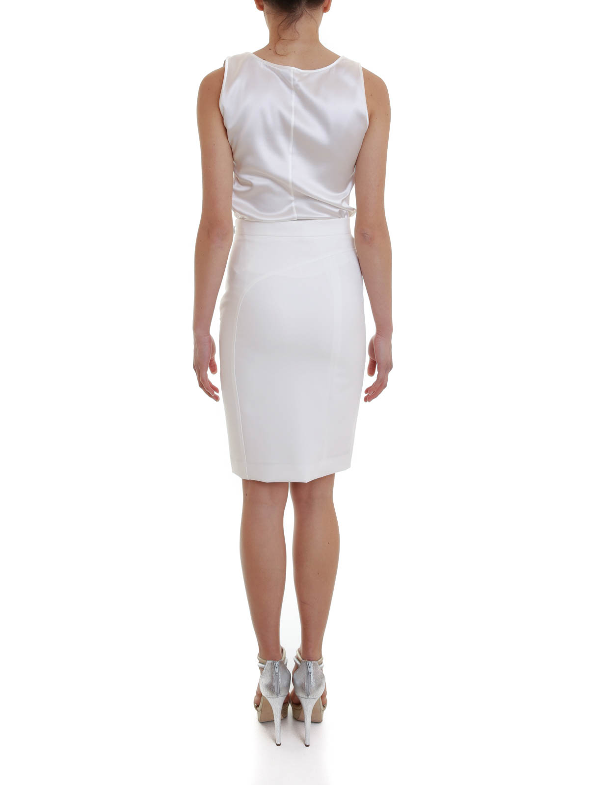 studded pencil skirt by versace collection knee length