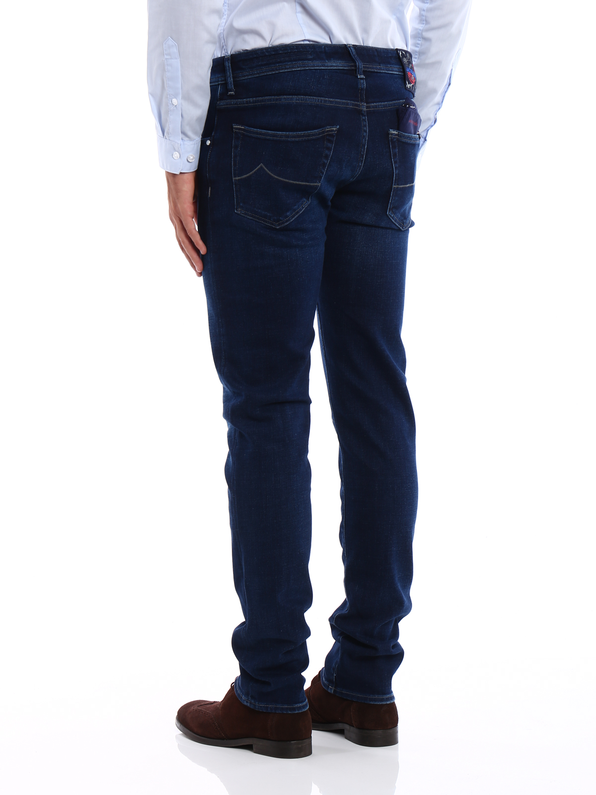 denim-style straight leg trousers - Blue Jacob Cohen Ol6bp