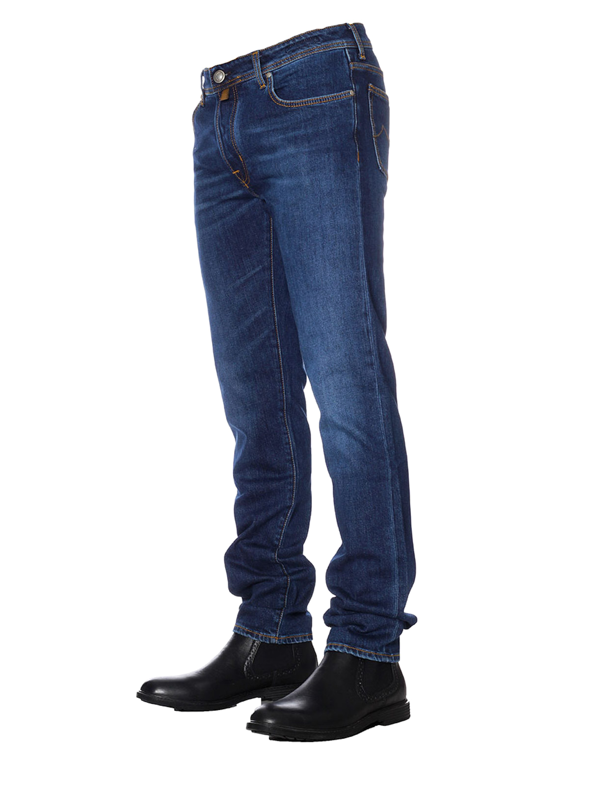 style 688 comf blue cotton jeans by jacob cohen straight leg jeans ikrix. Black Bedroom Furniture Sets. Home Design Ideas