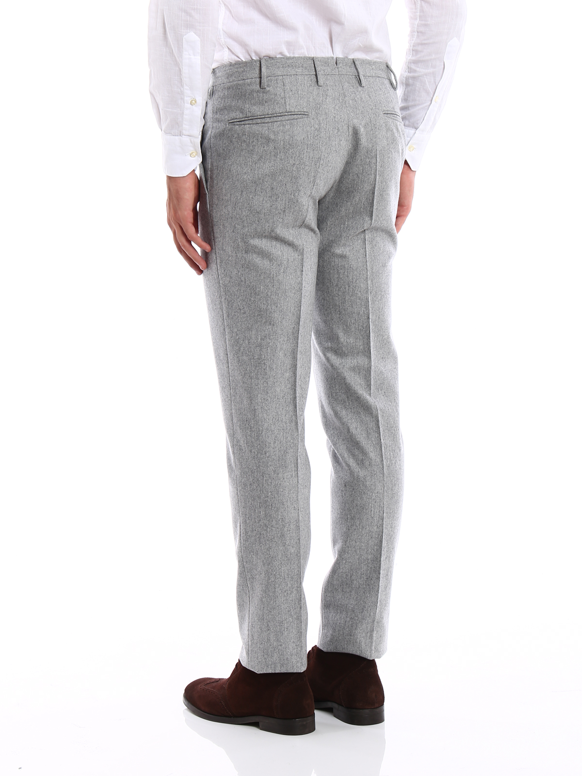 ff34a4fc2974 Incotex - Super 100 s wool flannel trousers - Tailored   Formal ...