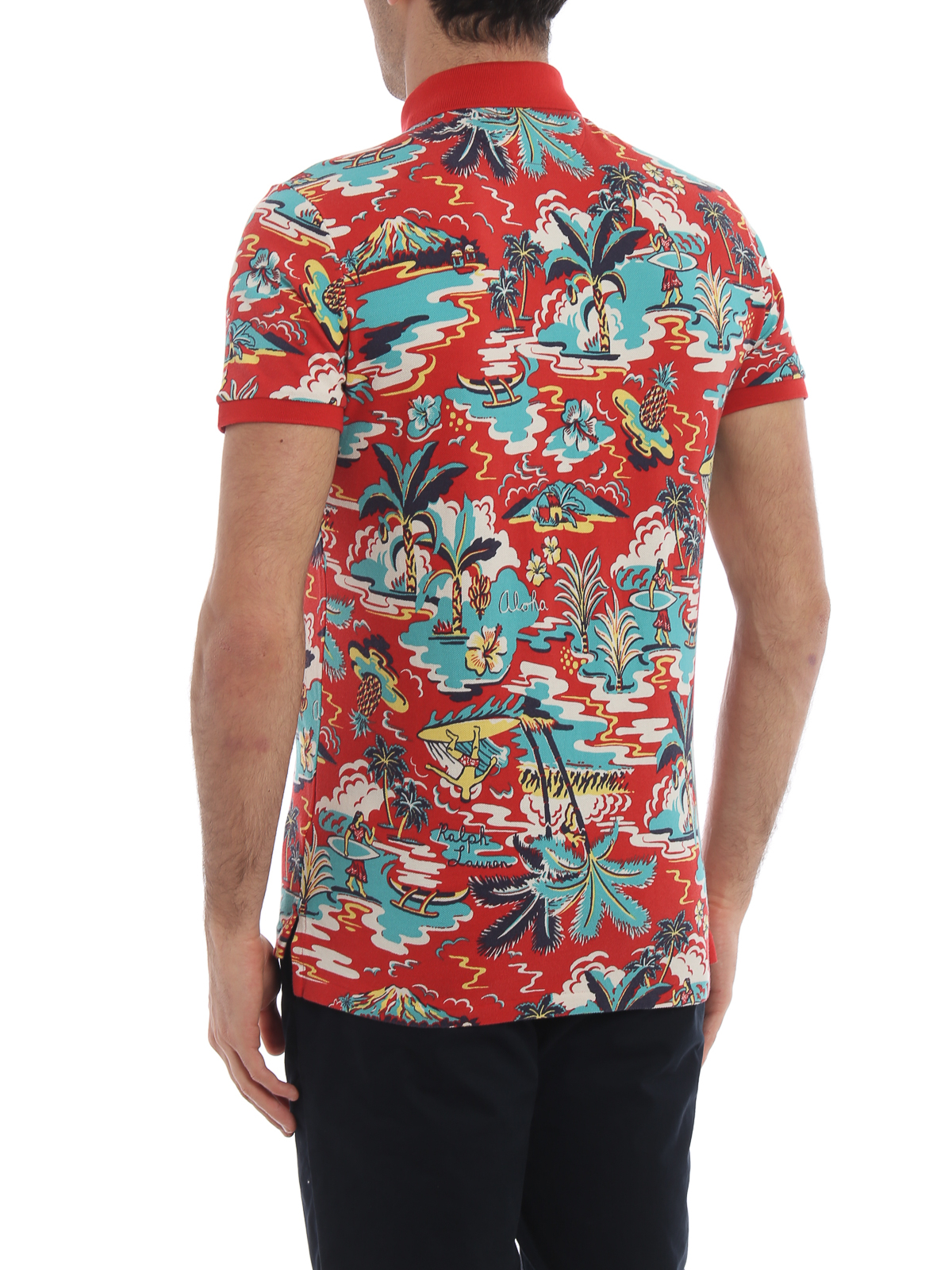Cotton Print Lauren Surf Ralph Pique Polo Shirts Shirt UzSMpV