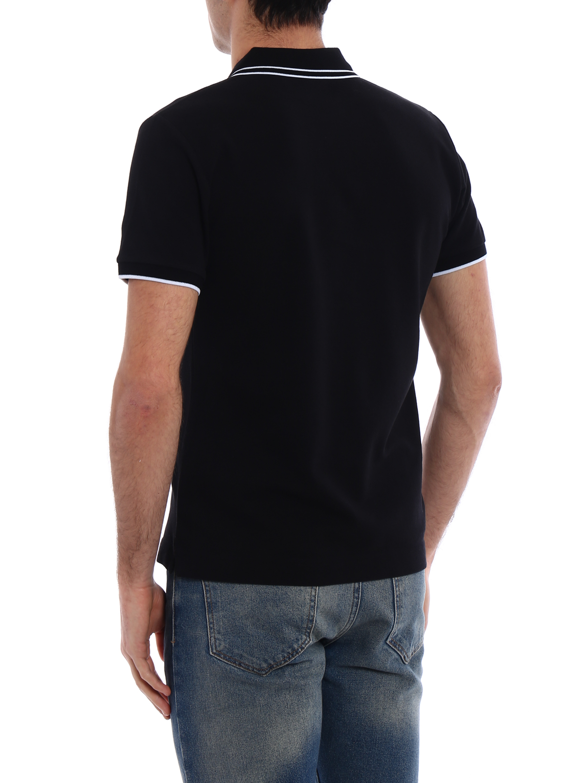 Mcq Swallow Embroidered Polo Shirt Polo Shirts Mn4 277624rht041010