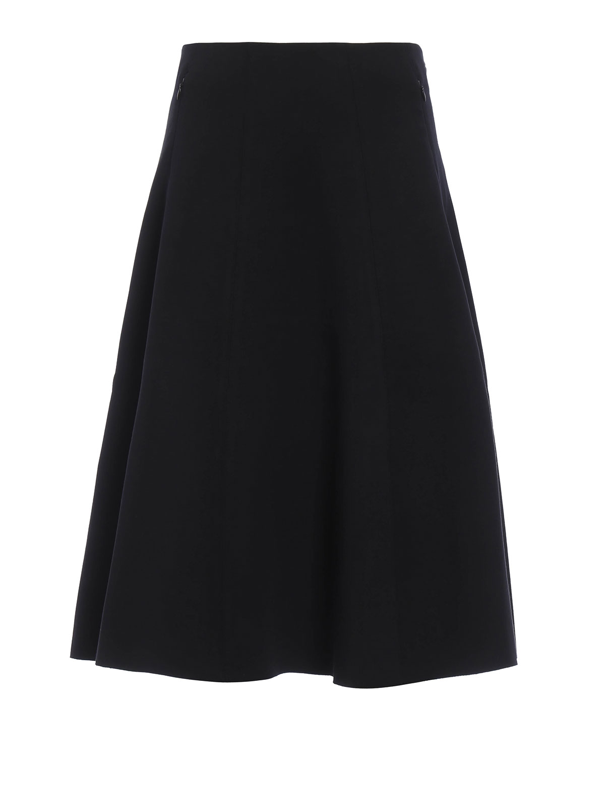 flared viscose jersey midi skirt by t by wang