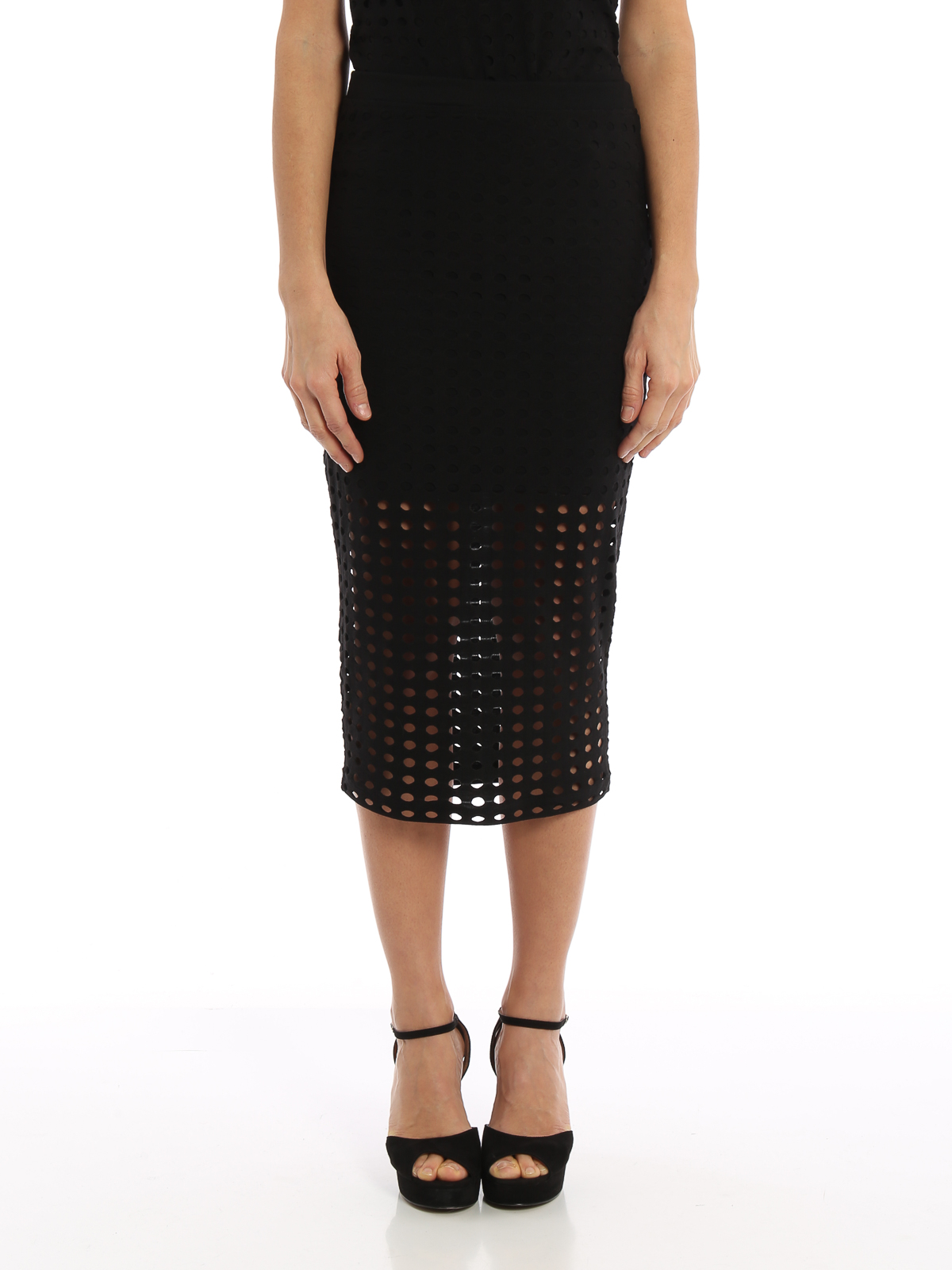 56138ef2d90e T BY ALEXANDER WANG: Knee length skirts & Midi online - Cut-out jersey