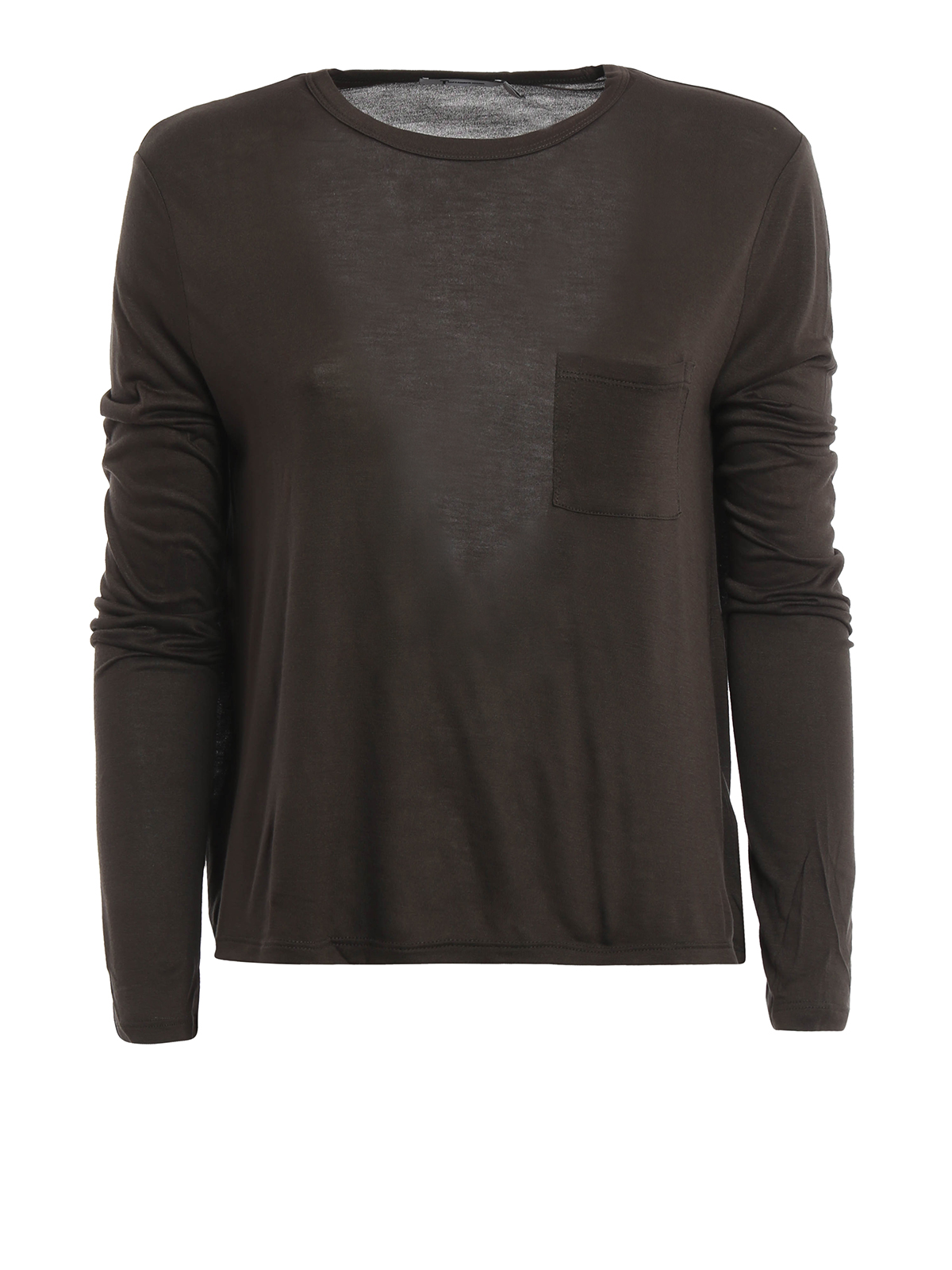 Long sleeve crop t shirt by t by alexander wang t shirts for Alexander wang t shirts