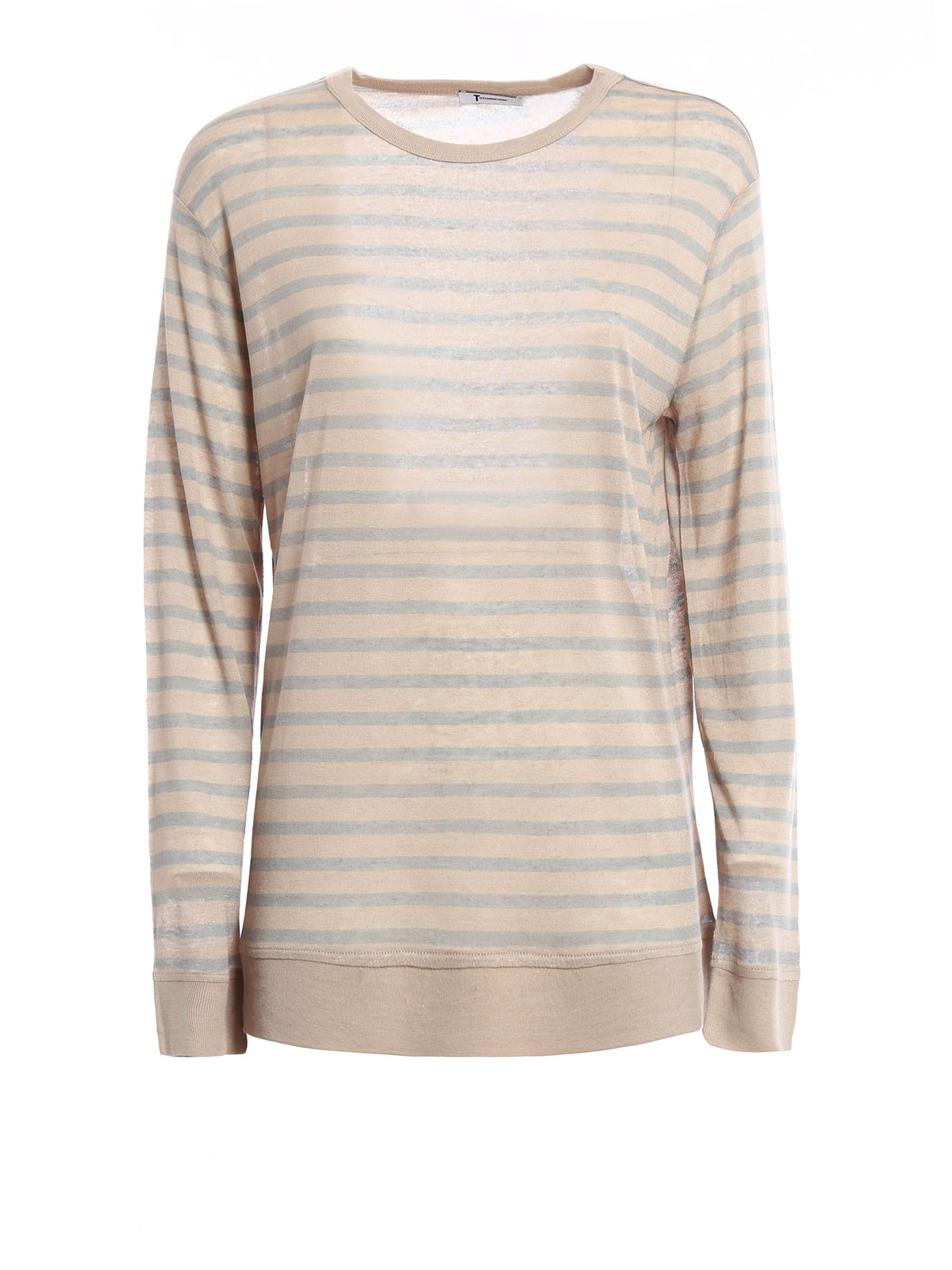 Long sleeved striped t shirt by t by alexander wang t Striped long sleeve t shirt