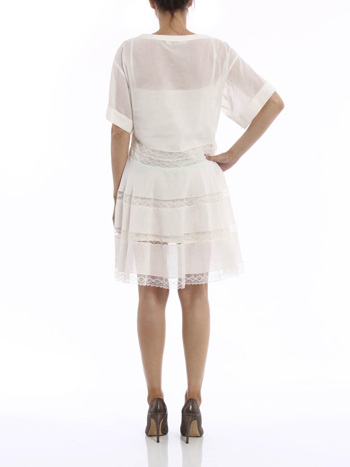 T-shirt inspired cotton dress by Philosophy di Lorenzo ...