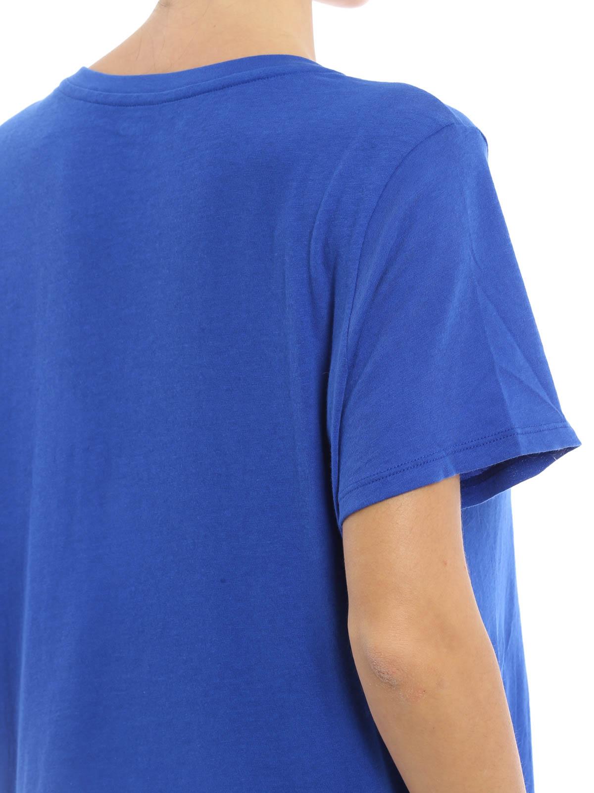 T shirt con logo goffrato polo ralph lauren t shirt for V neck t shirt online shopping