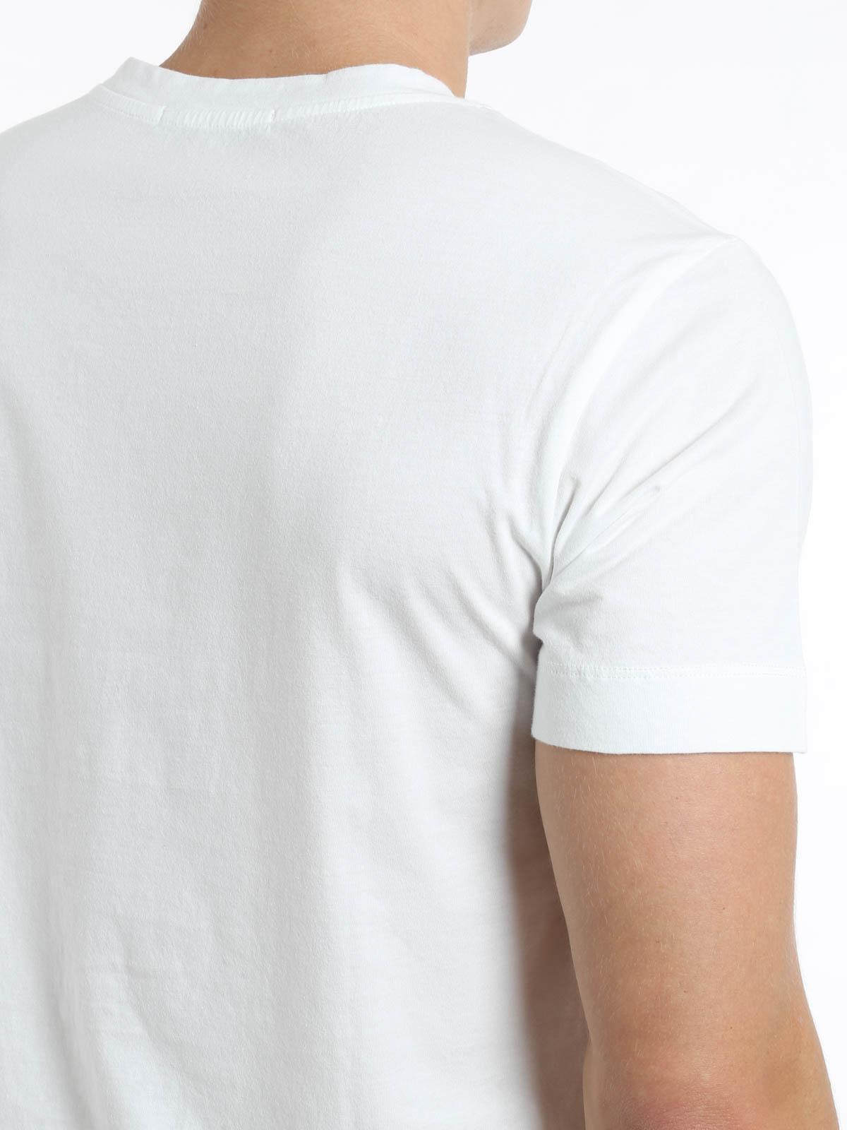 V neck side print t shirt de pierre balmain t shirts for V neck t shirt online shopping