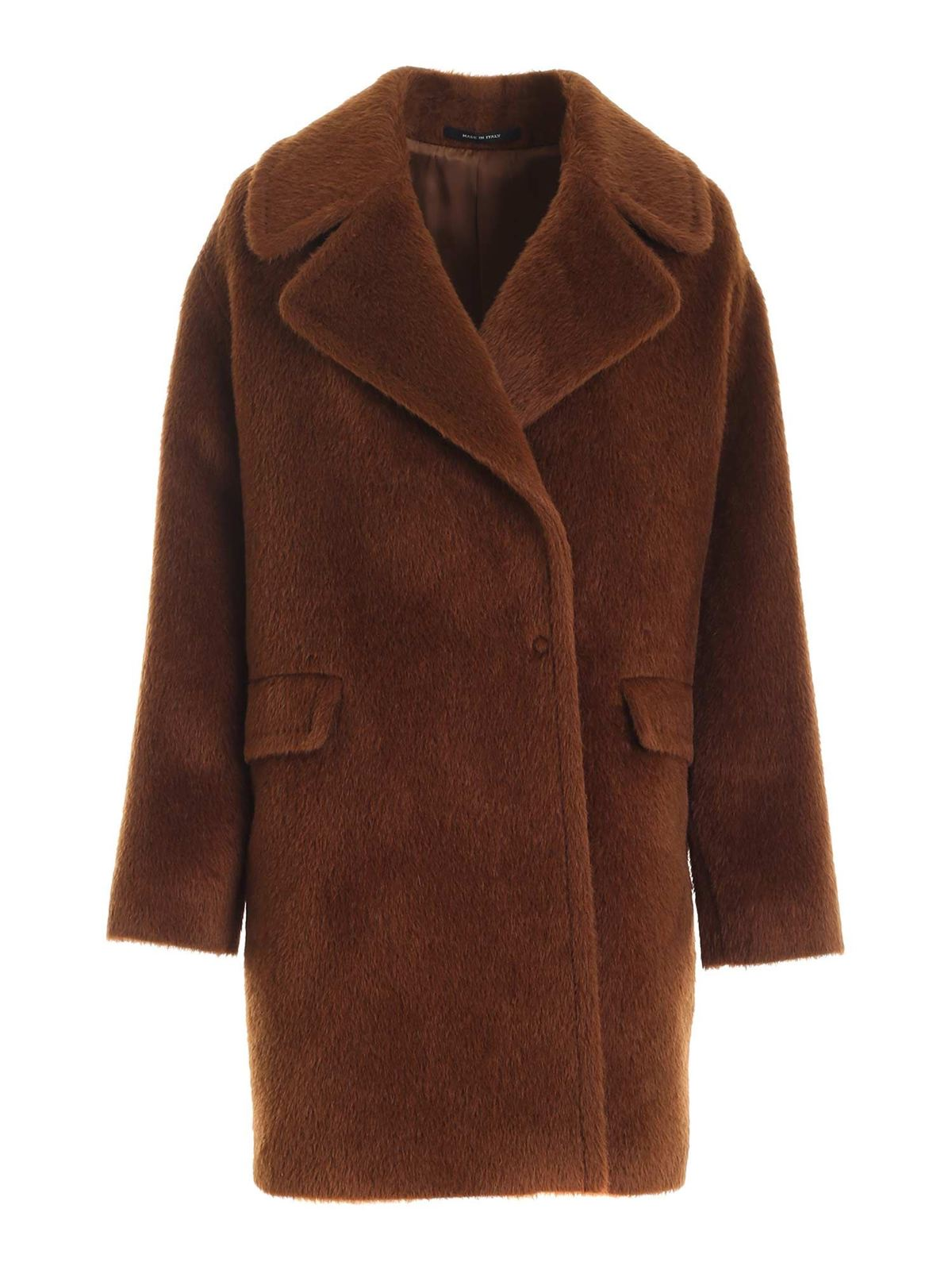 Tagliatore ASTRID DOUBLE-BREASTED COAT IN BROWN