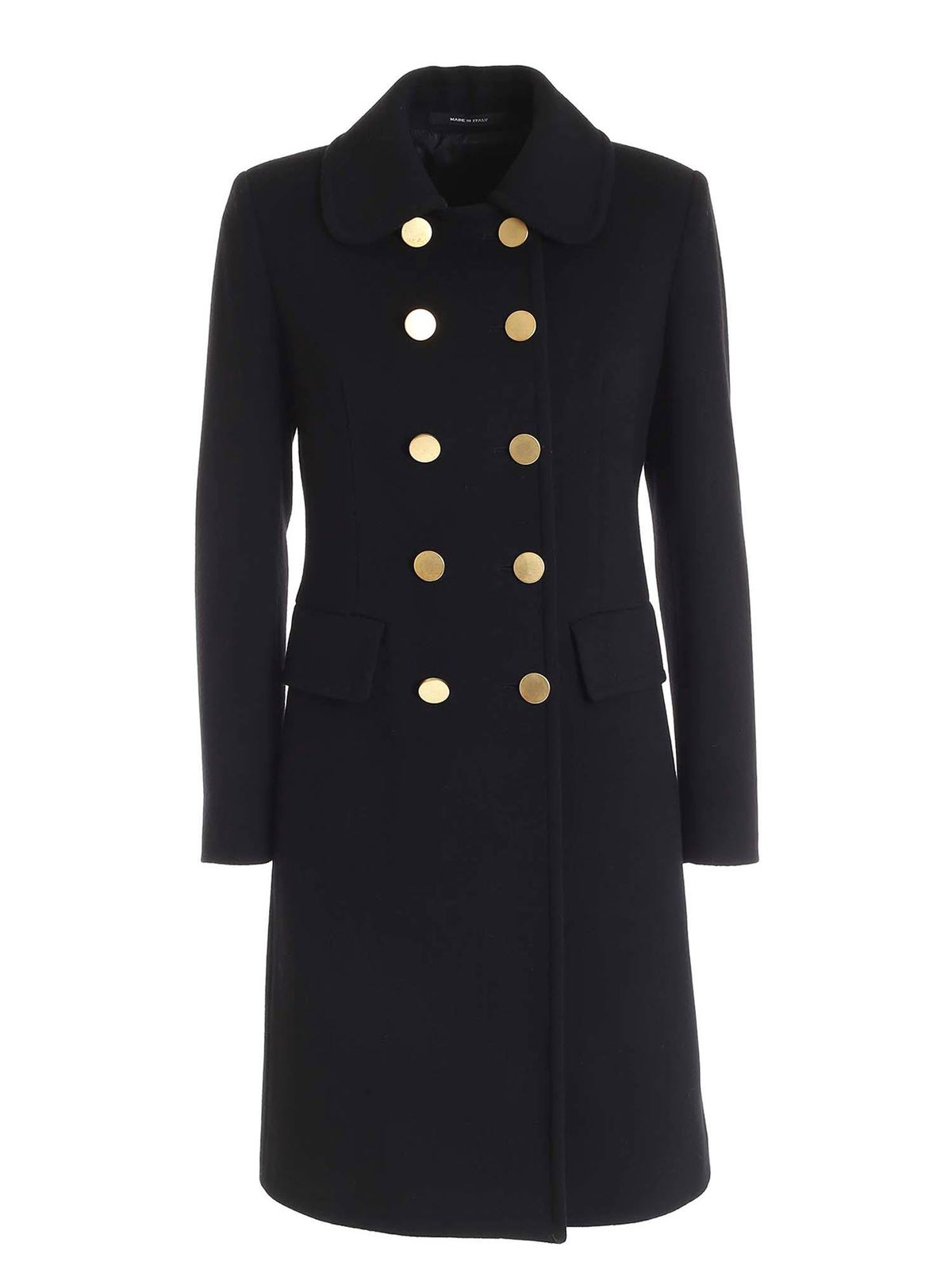 Tagliatore HOLLY DOUBLE-BREASTED COAT IN BLACK