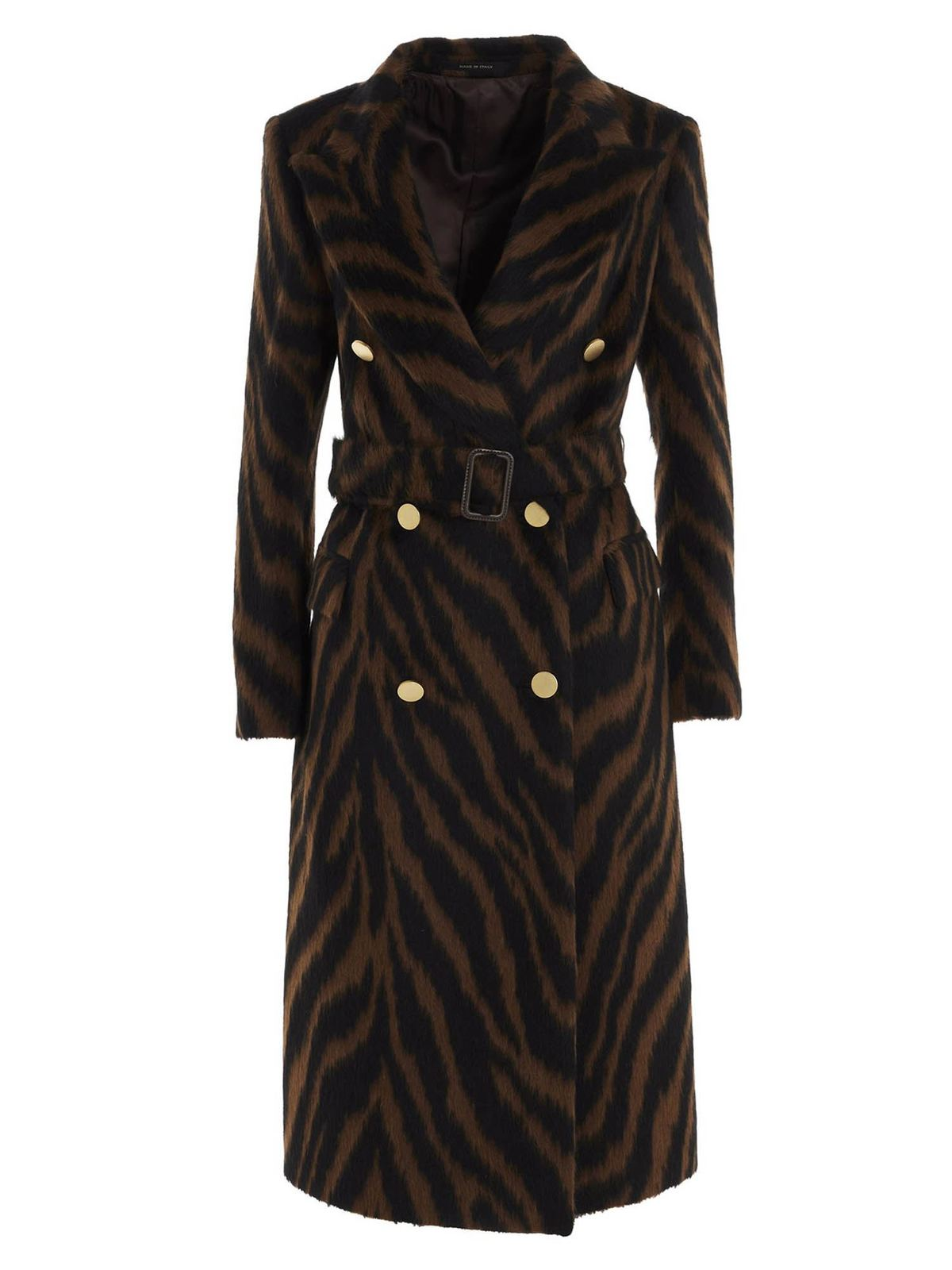Tagliatore DOUBLE-BREASTED ANIMAL PRINT COAT