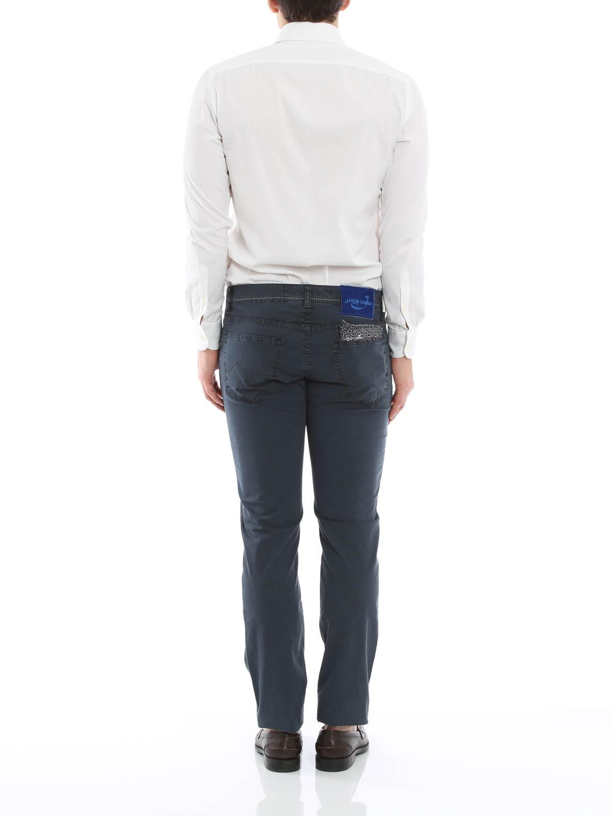 jeans sartoriali j622 jacob cohen jeans dritti a. Black Bedroom Furniture Sets. Home Design Ideas