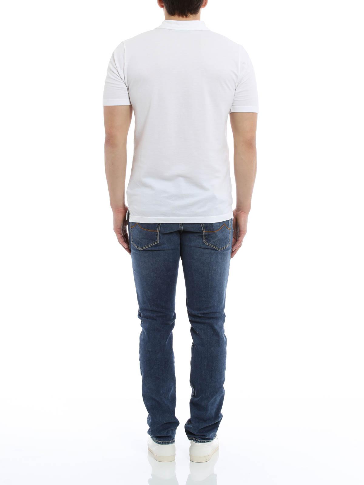 jeans sartoriale jacob cohen jeans dritti a sigaretta. Black Bedroom Furniture Sets. Home Design Ideas