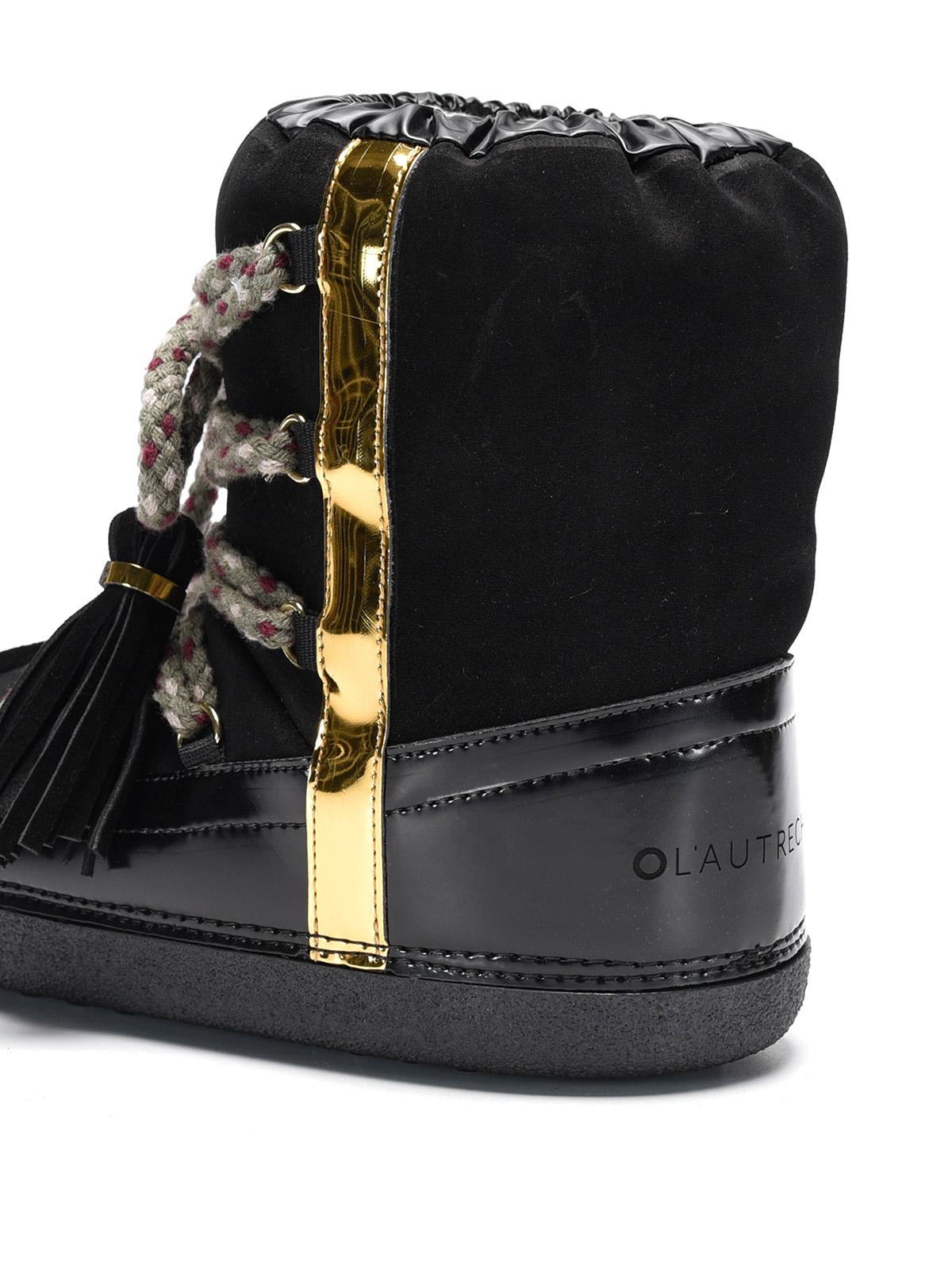 tassels detail suede snow boots by l autre chose snow