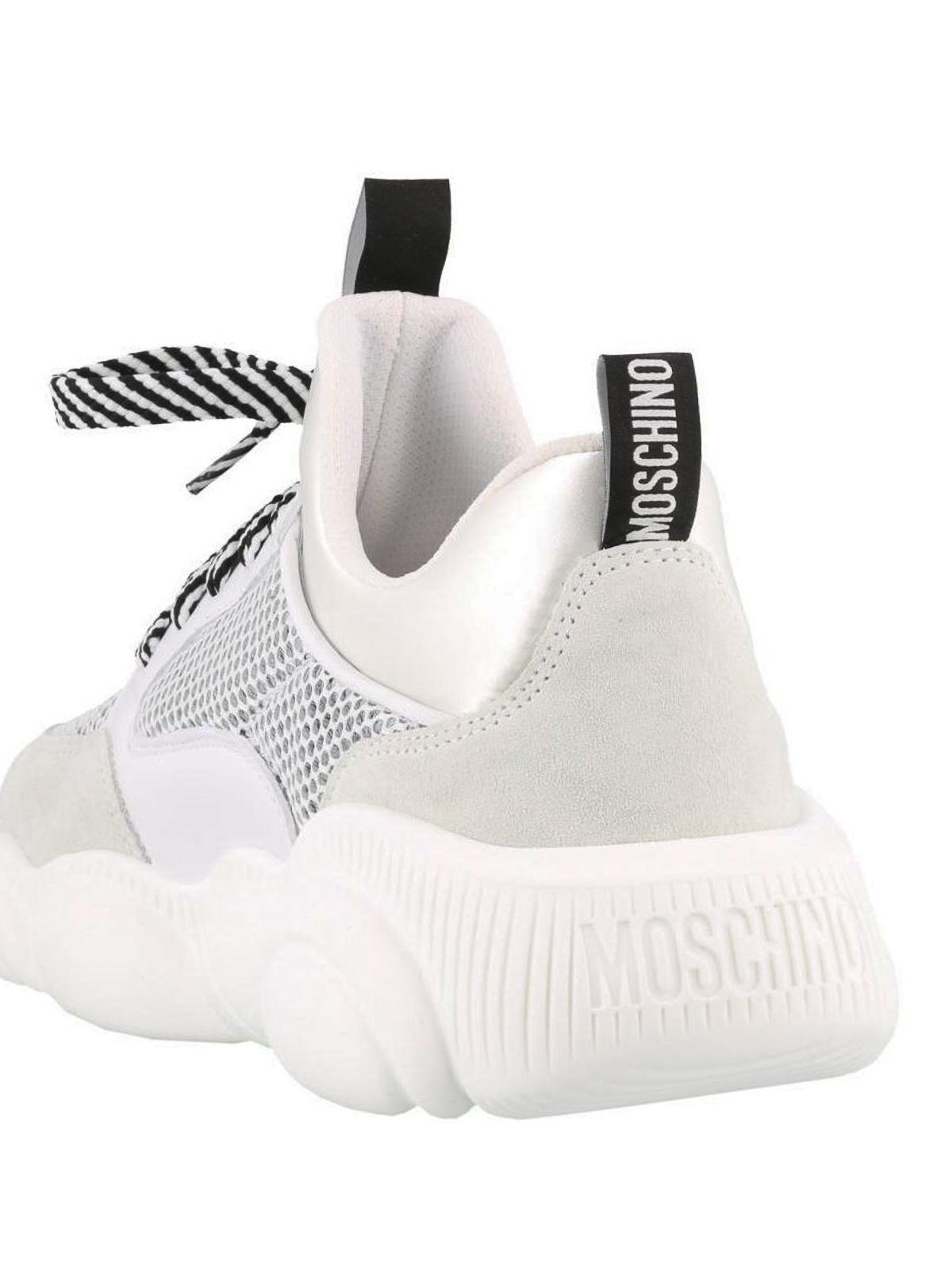 Moschino - Teddy Run white sneakers