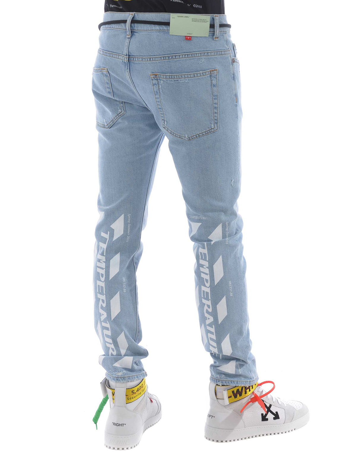 665c199097d8 Off-White - Temperature print skinny jeans - skinny jeans ...