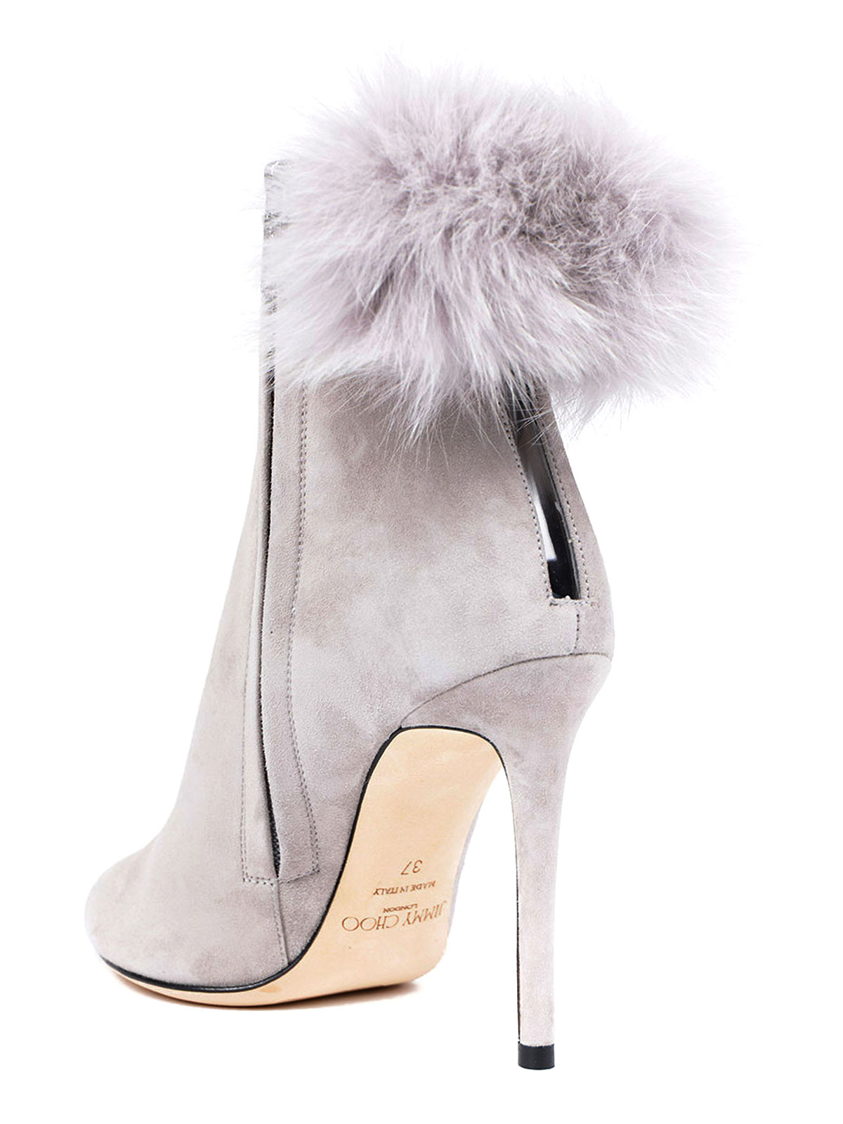 98a23f799fd6 Jimmy Choo - Tesler fur pom pom suede booties - ankle boots ...