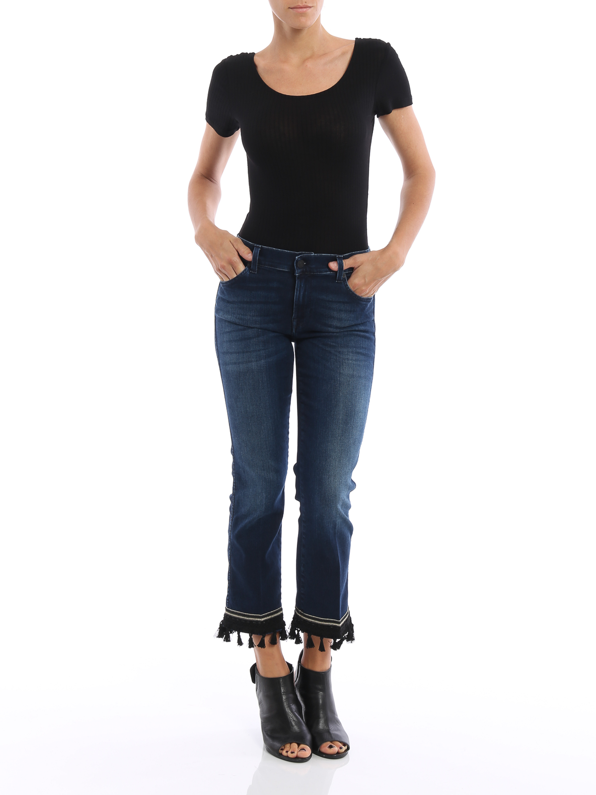 the ankle flare cropped boot jeans by 7 for all mankind straight leg jeans ikrix. Black Bedroom Furniture Sets. Home Design Ideas