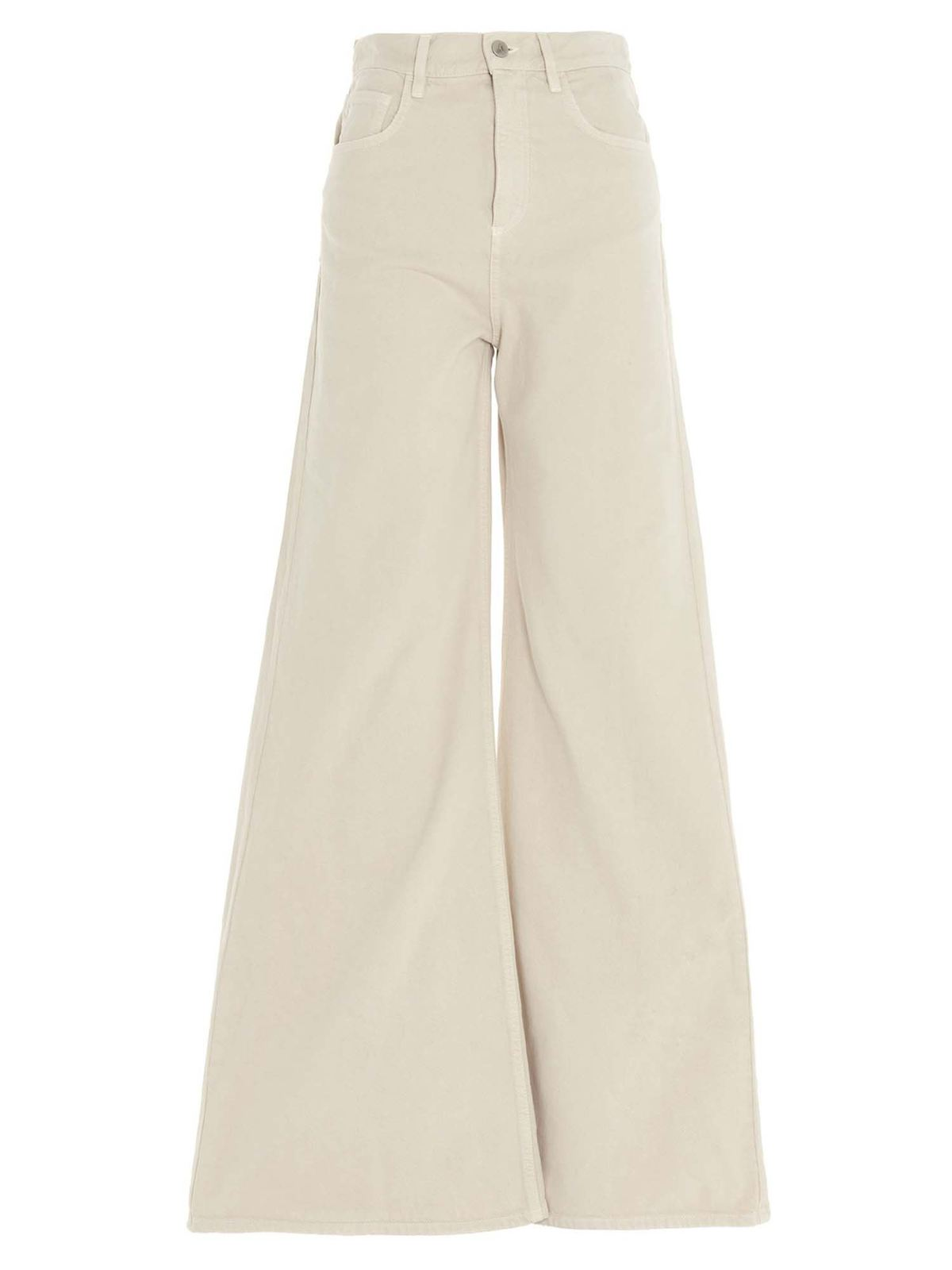 ATTICO FLARED JEANS IN IVORY COLOR