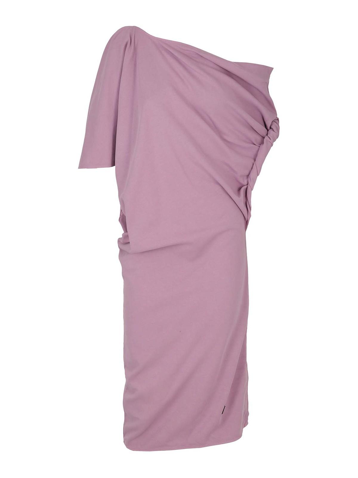 Attico Cottons JERSEY ASYMMETRIC T DRESS
