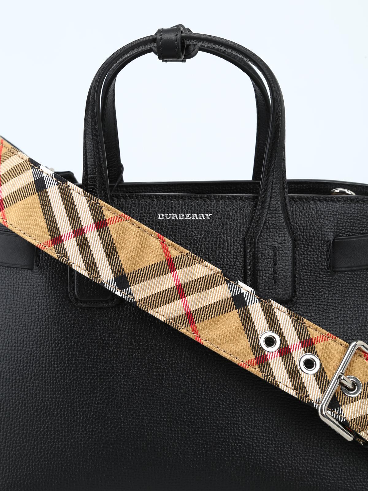 Burberry - Borsa The Small Banner in pelle nera - borse a tracolla ... f042dfe4537