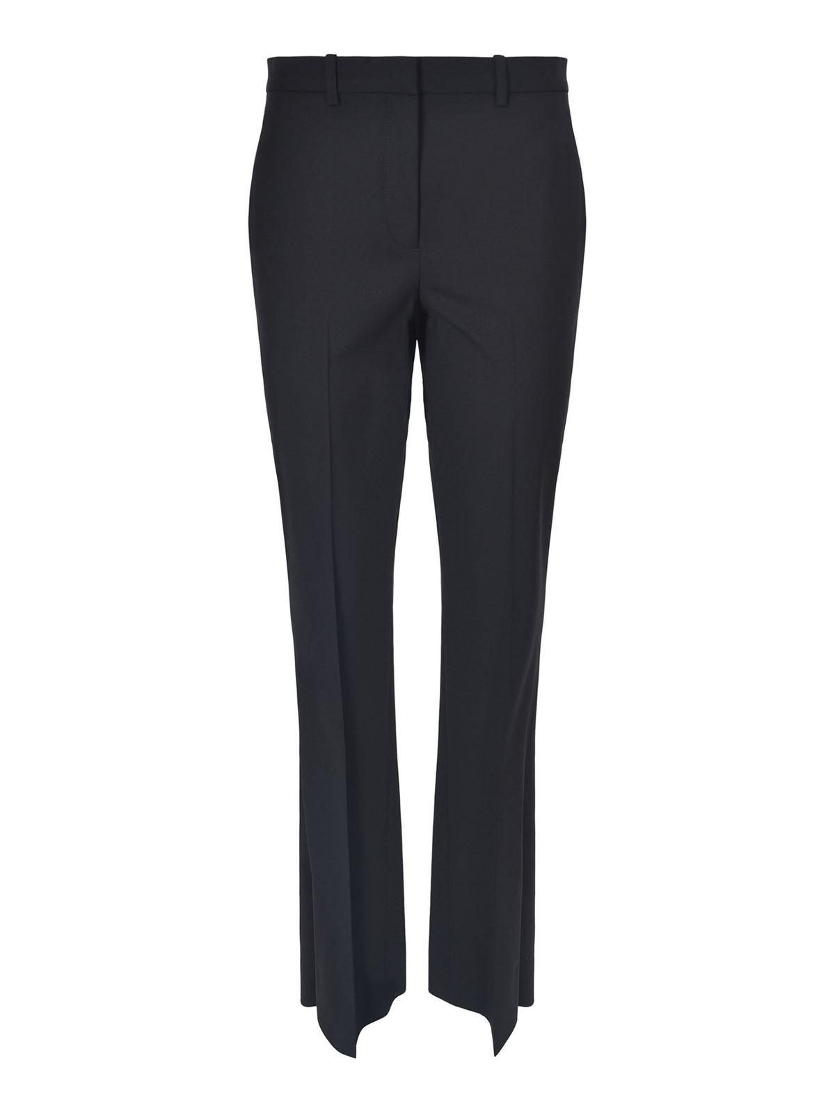 Theory FLARED WOOL TROUSERS IN BLACK