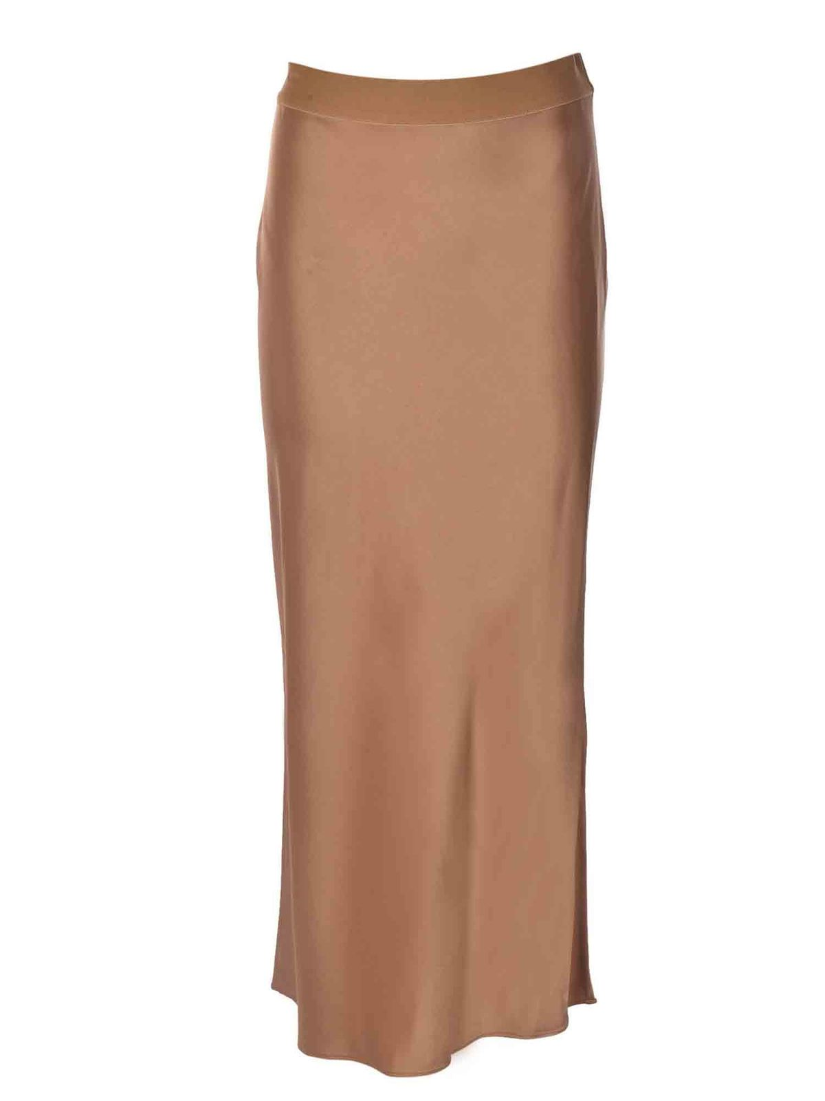 Theory SATIN SKIRT IN BRONZE COLOR