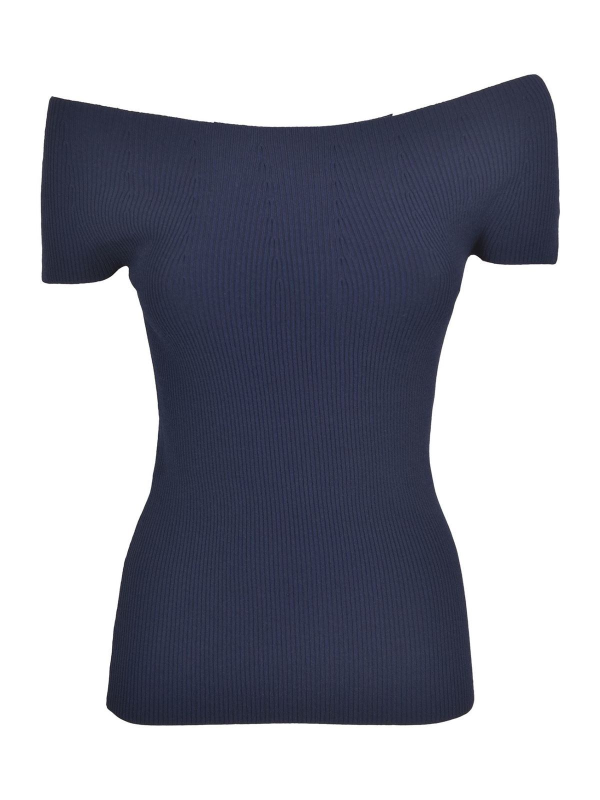 Theory Tanks OFF-THE-SHOULDER TOP IN MIDNIGHT COLOR