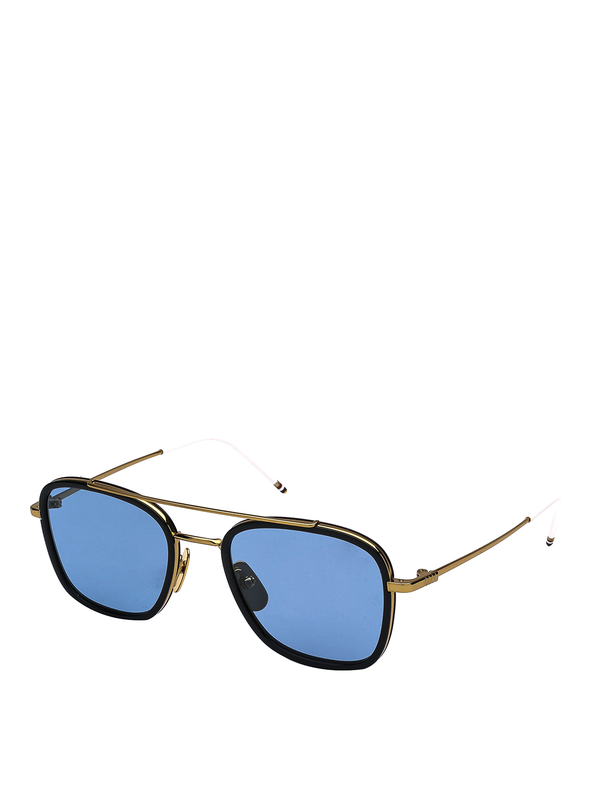 Thom Browne Black And Gold Squared Sunglasses