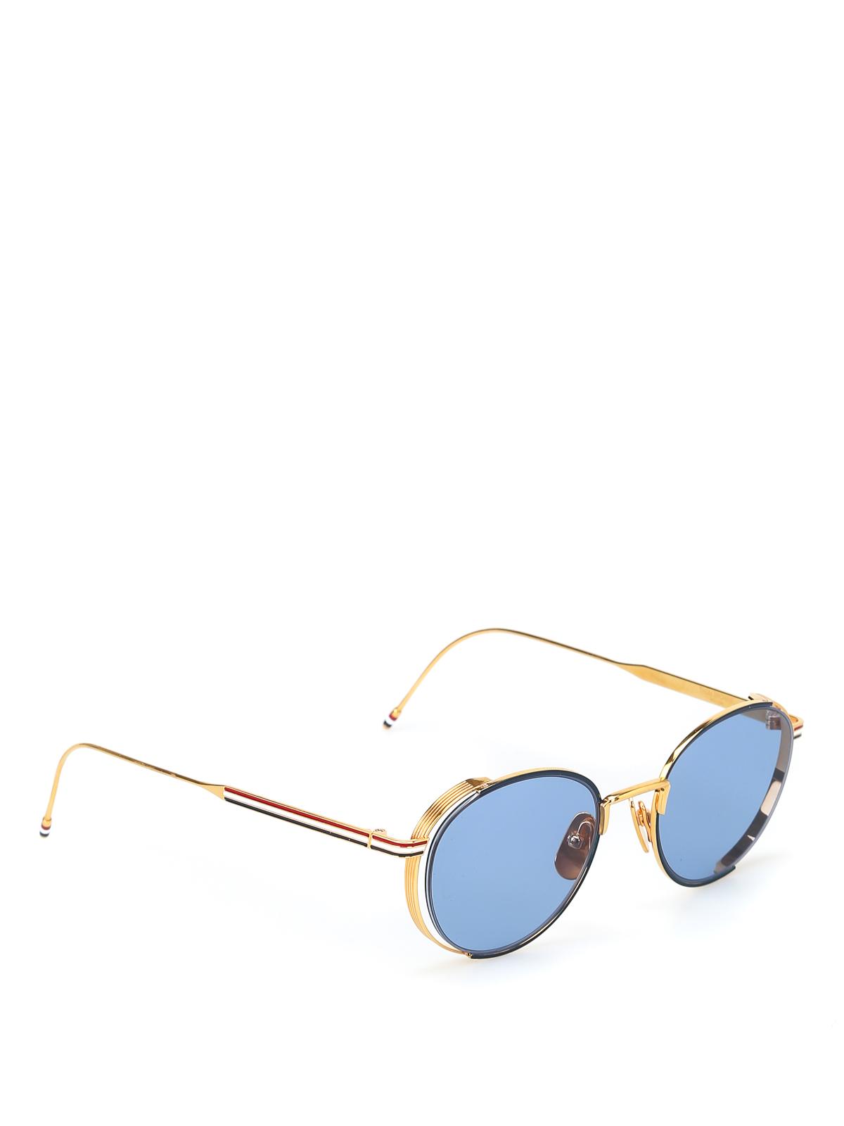 96710973d2 Thom Browne - Tricolour sunglasses - sunglasses - TB 106C NVY GLD 50