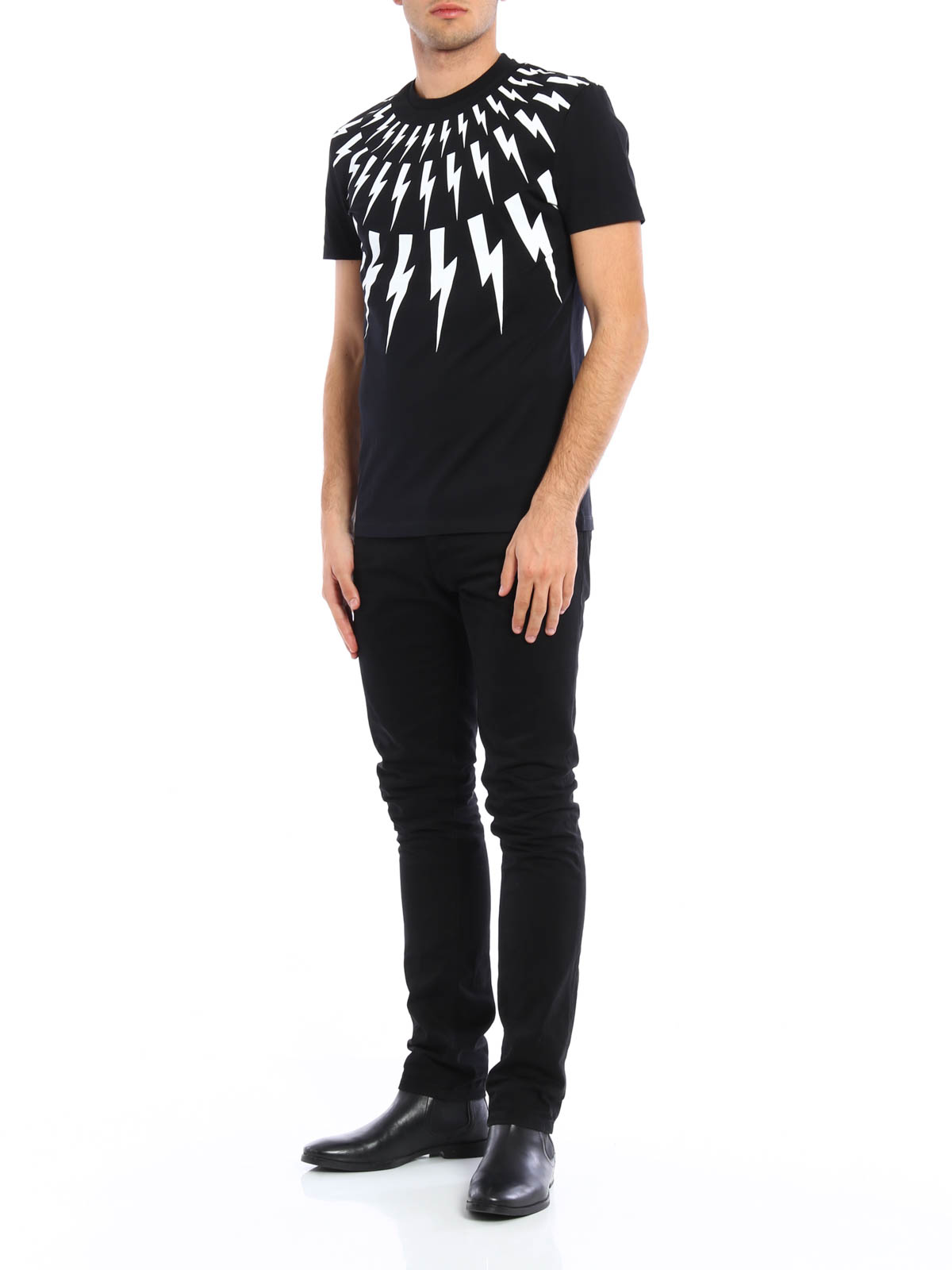 thunderbolt t-shirt Neil Barrett Shop For Online Free Shipping For Nice Sale View TUozMIK5