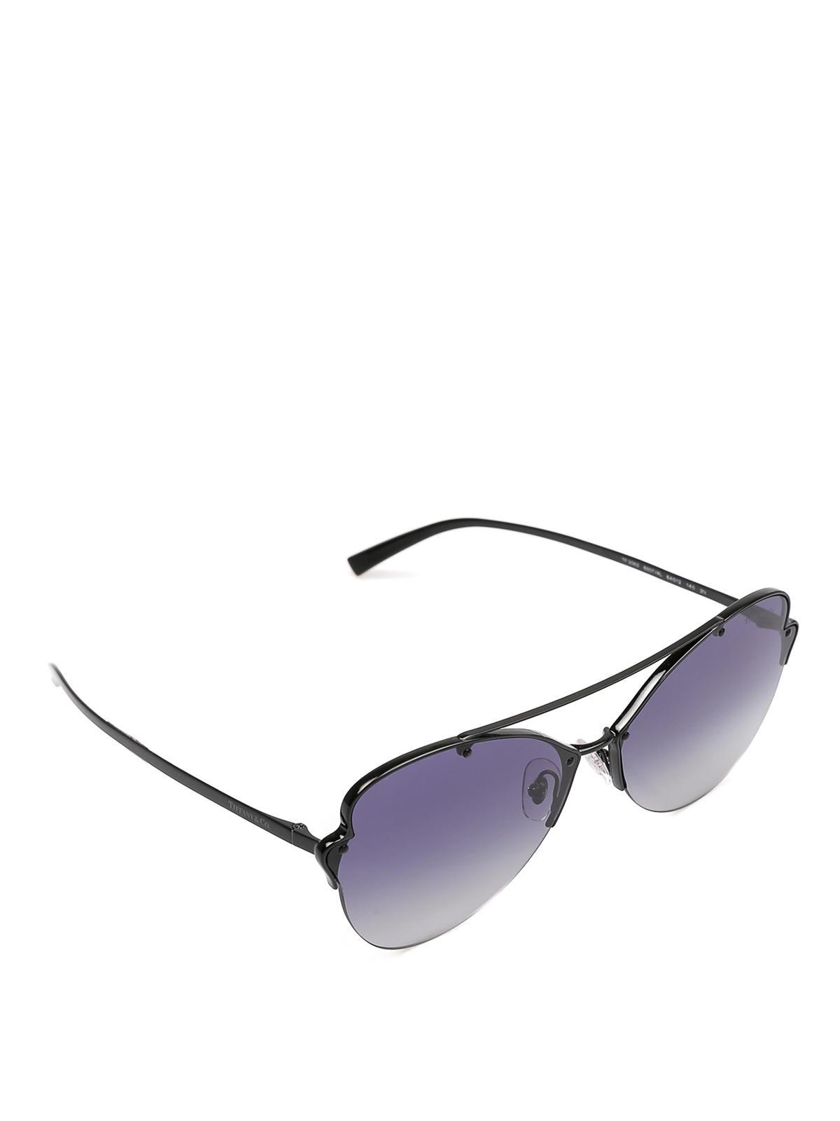 4bdc7d4723d7 Tiffany & Co. - Black metal Butterfly sunglasses - sunglasses ...