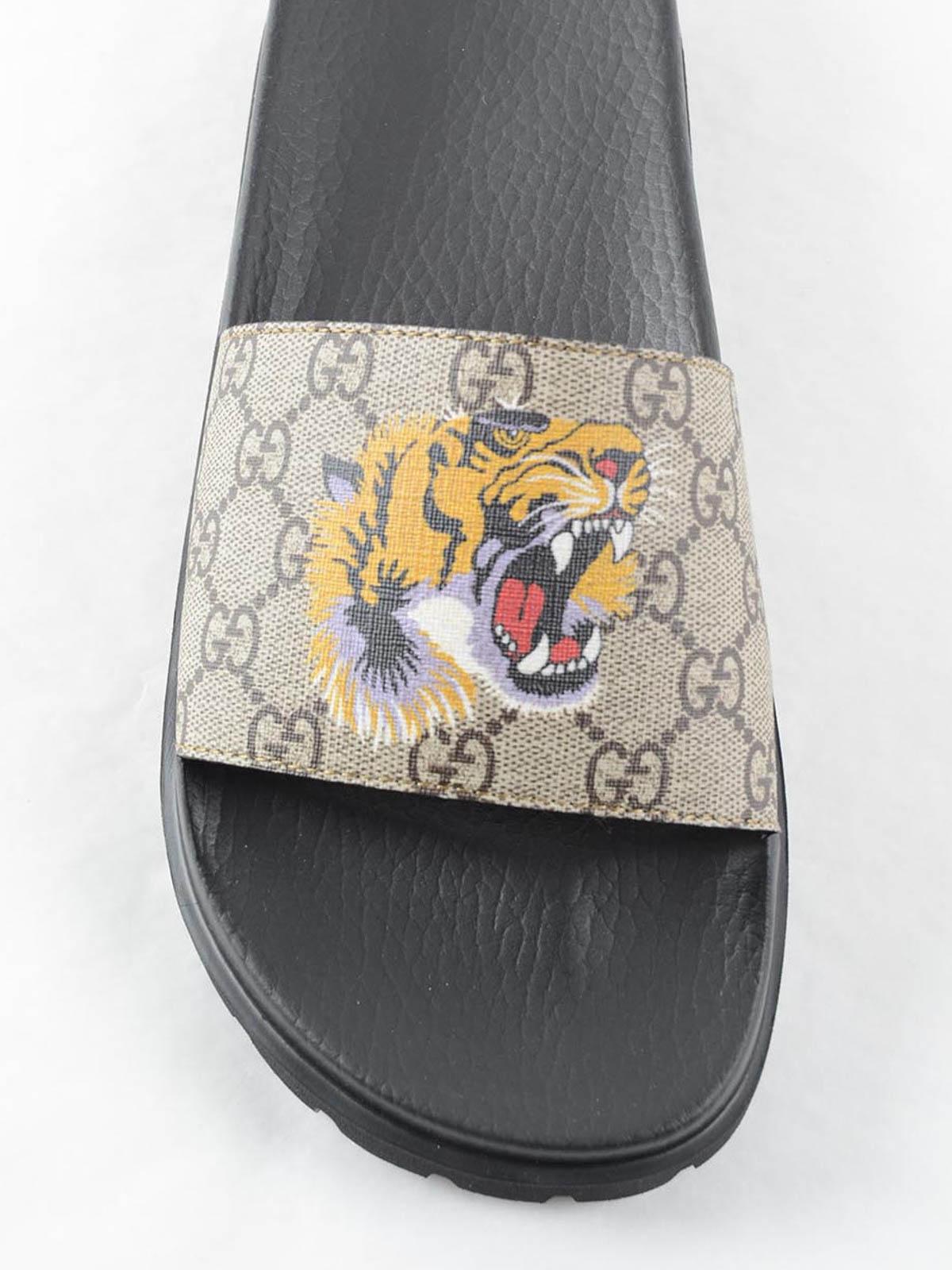 a71f314e4 Gucci - Tiger flat sandals - sandals - 456234K5Y00 8919 | iKRIX.com
