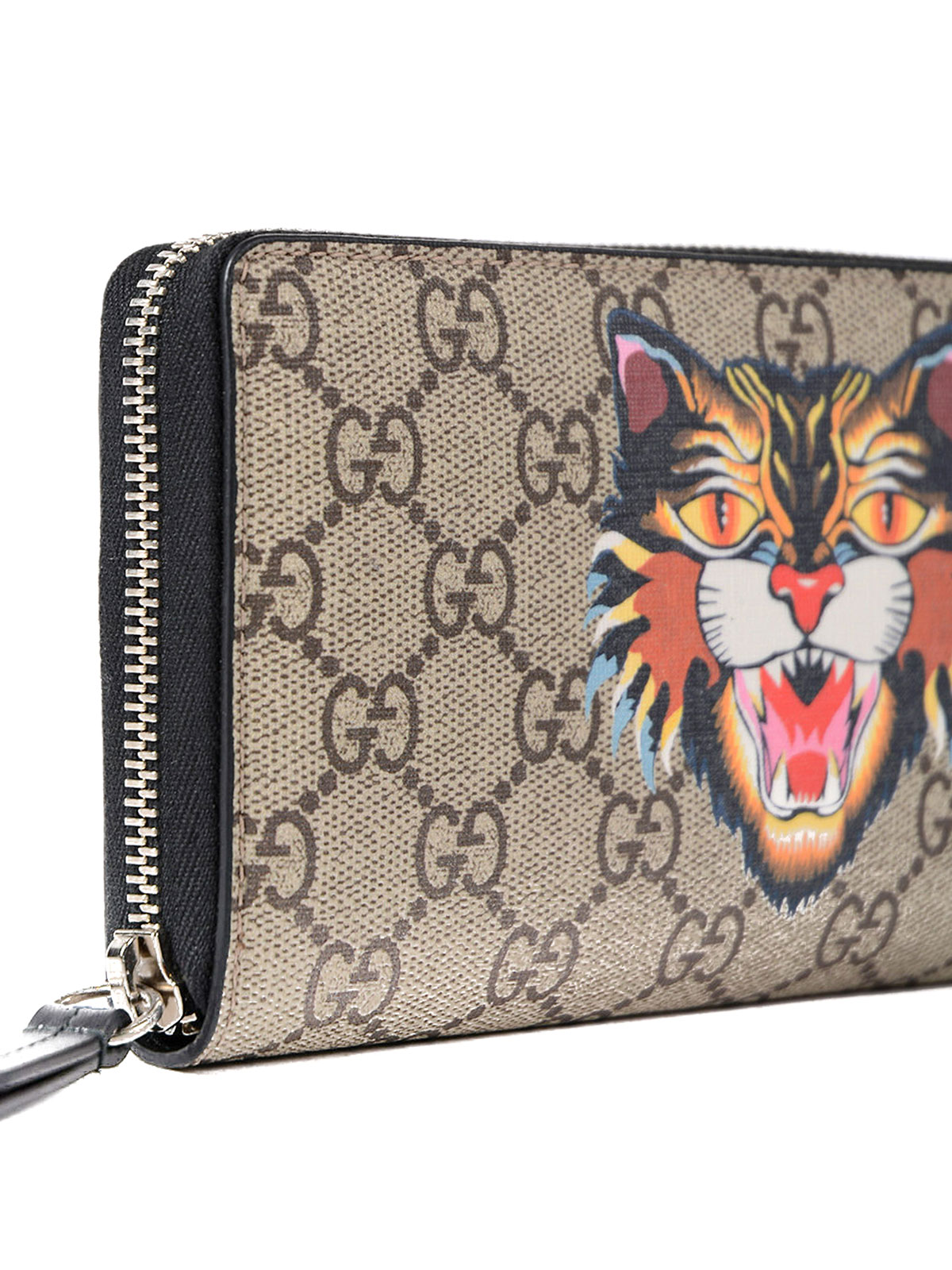 7a9783e82699 Gucci - Tiger GG Supreme zip-around wallet - wallets & purses ...