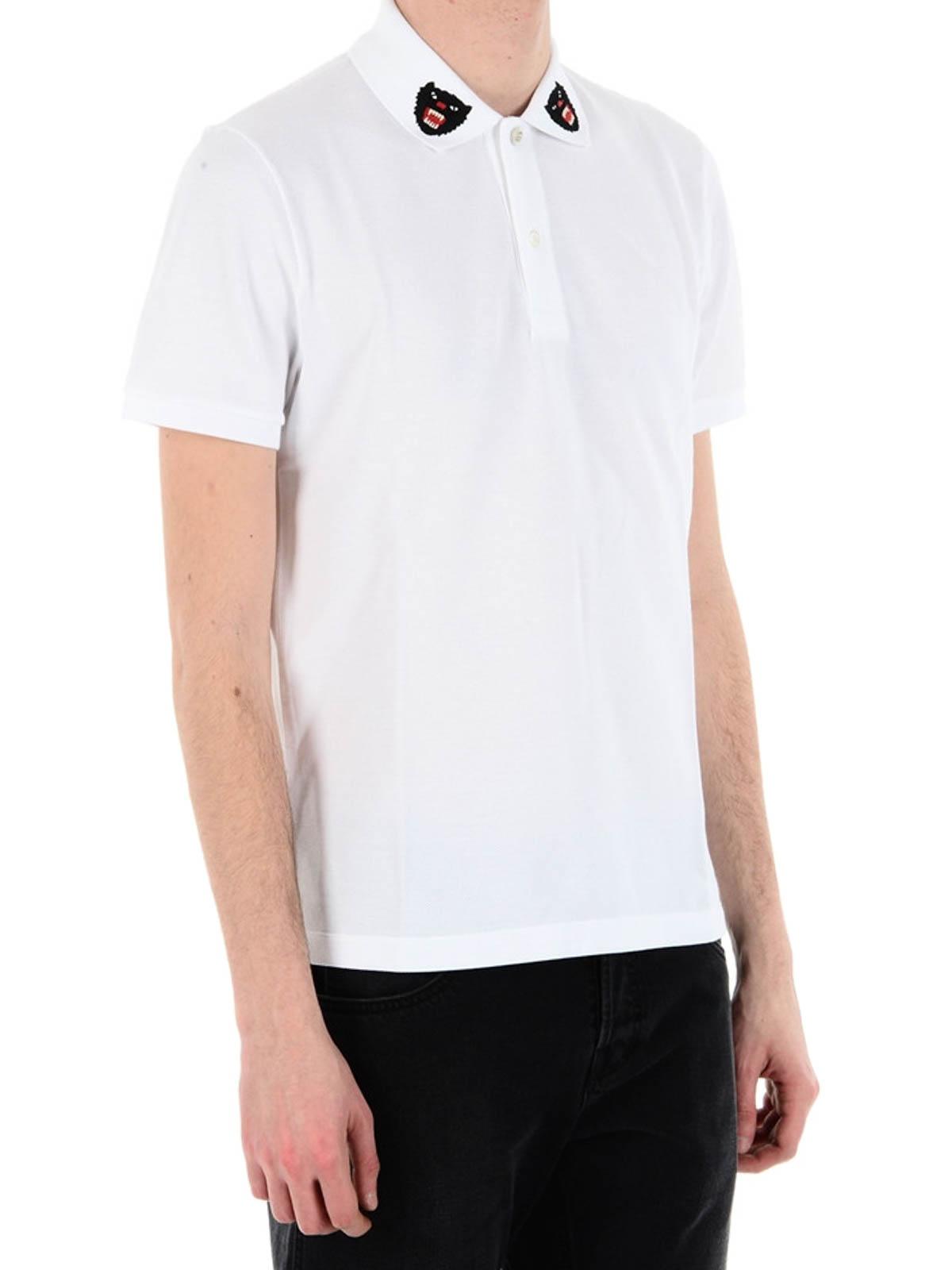 fca10e9d7 Gucci - Tiger logo on collar polo shirt - polo shirts - 453865X5H769024