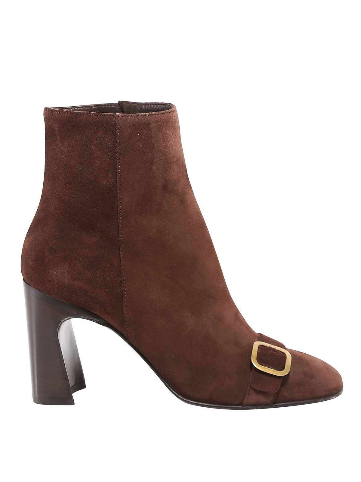Tod's BUCKLE STRAP SUEDE BOOTS