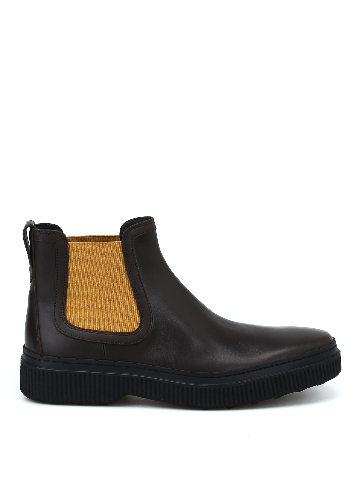 Tod's Dark Brown Smooth Leather Chelsea Boots