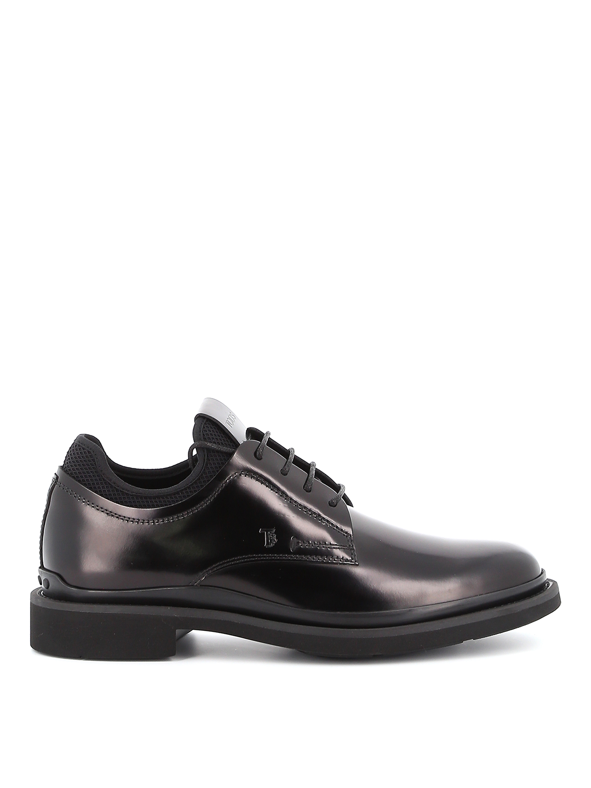 Tod's Hosiery LEATHER LACE-UPS WITH SOCK INSERT