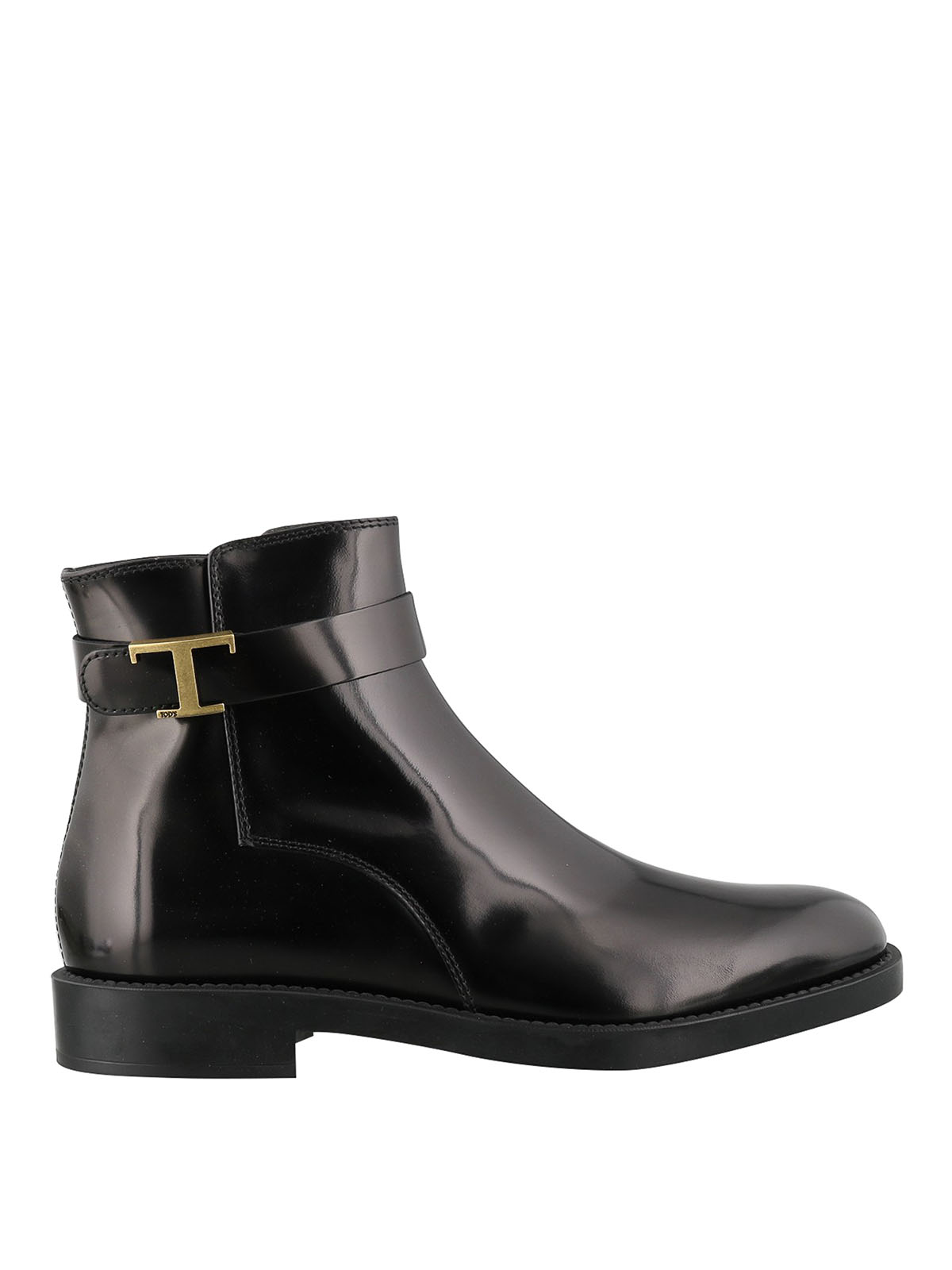 Tod's TIMELESS POLISHED LEATHER ANKLE BOOTS