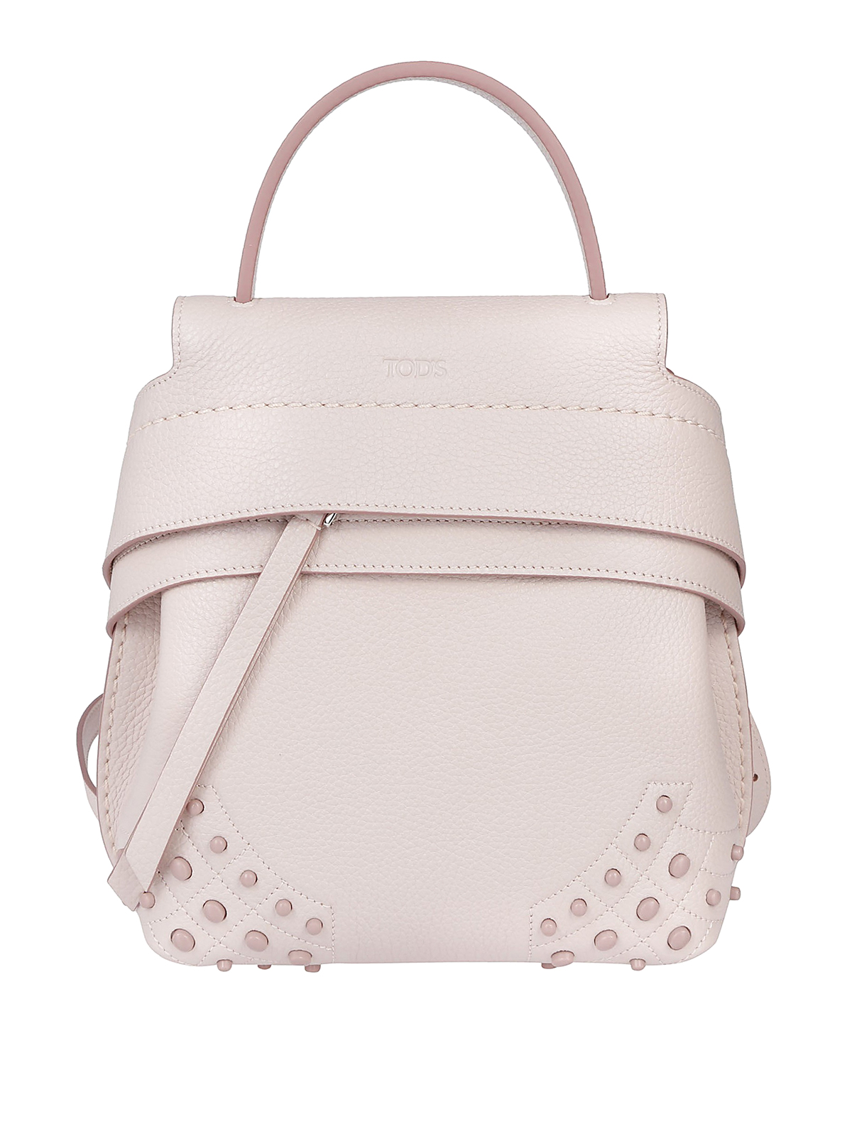 d96604bbe8 Tod S - Wave Bag Mini pink leather backpack - backpacks ...