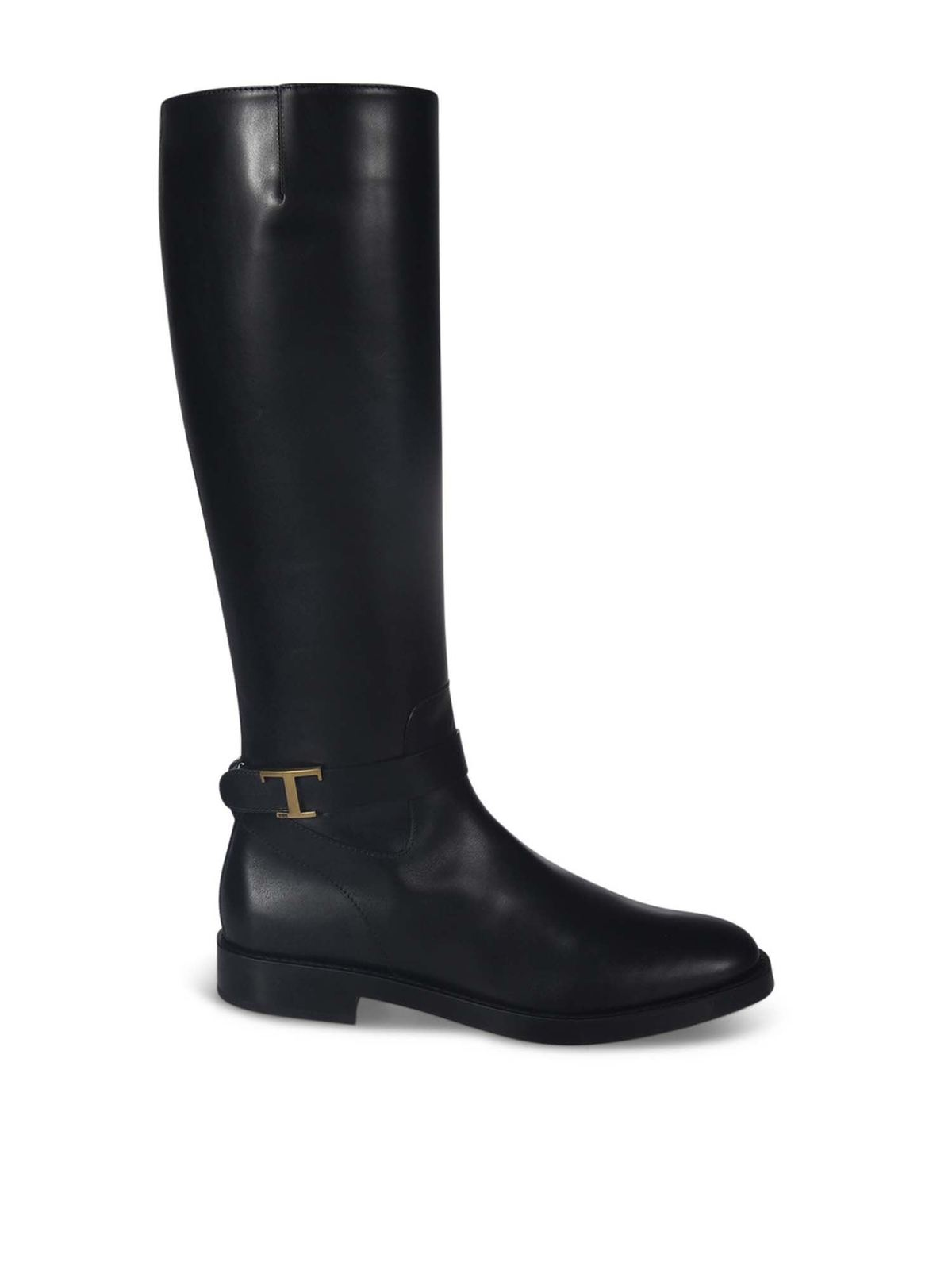 Tod's Shoes T LOGO BOOTS IN BLACK