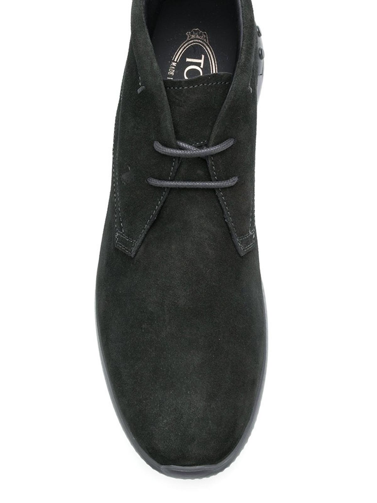 Dark grey suede sporty desert boots