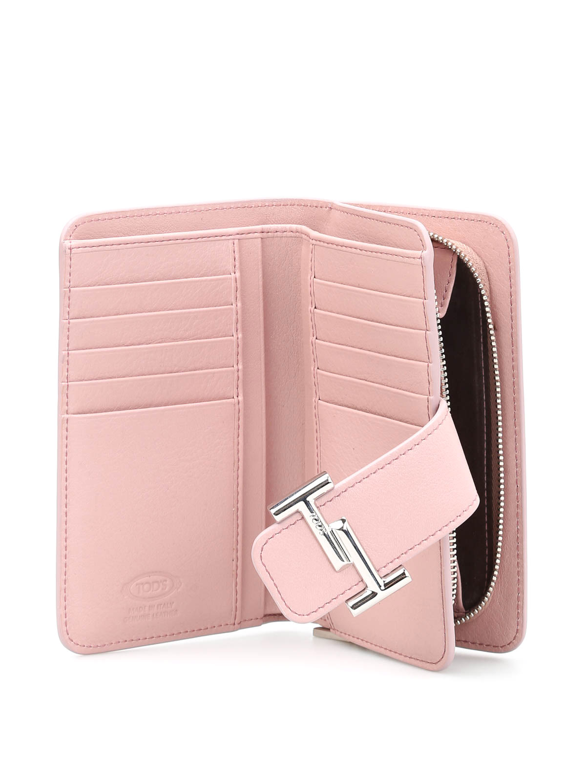 2c499d294a Tod'S - Double T detailed leather wallet - wallets & purses ...