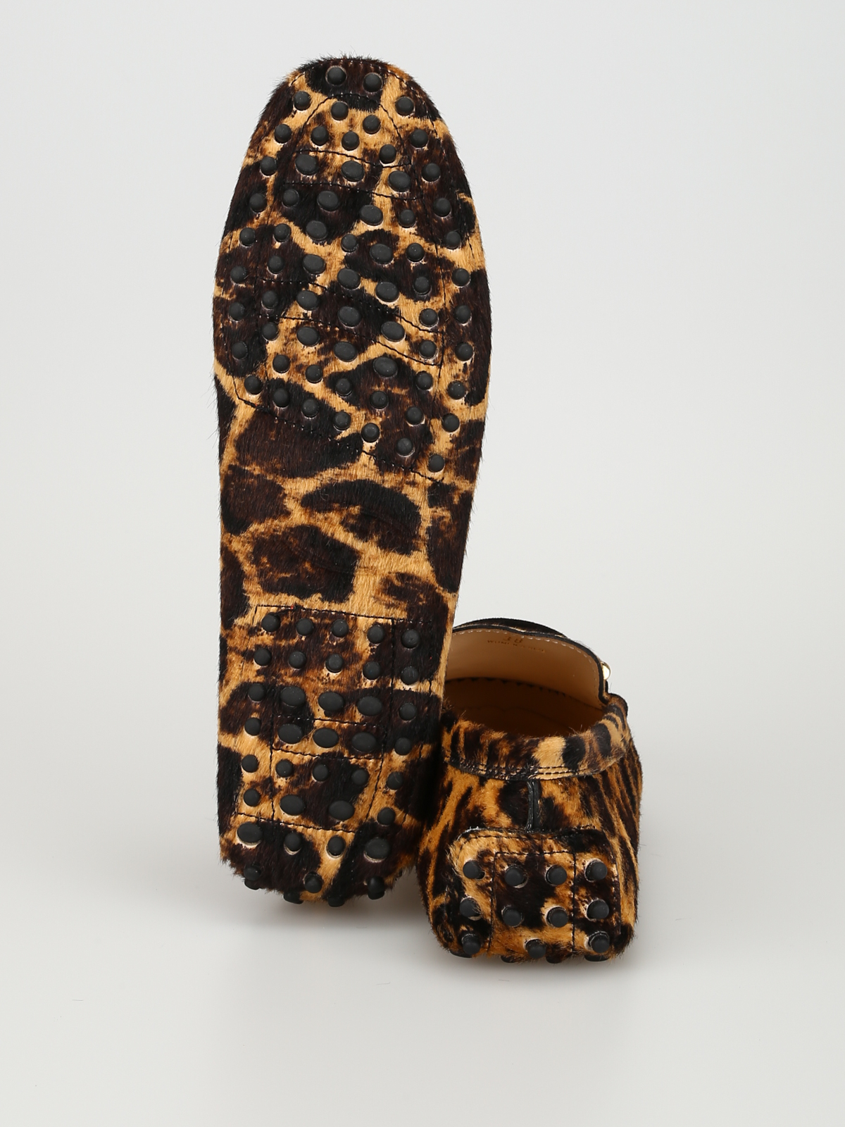 fdf9ed5dca54 Tod'S - Tasselled animal print haircalf loafers - Loafers & Slippers ...
